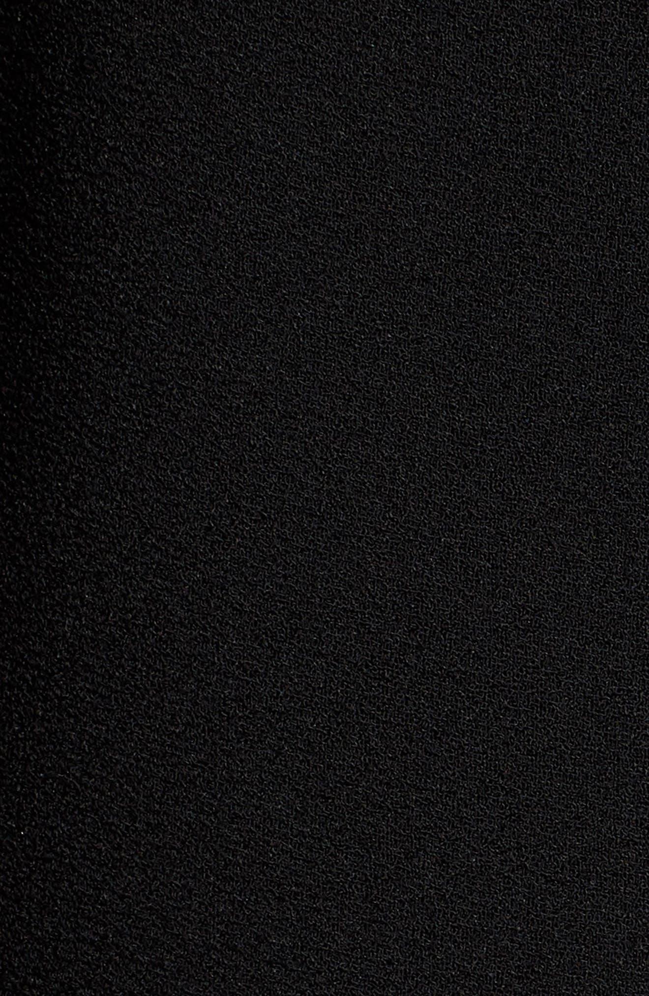 Jisala Compact Crepe Crop Jacket,                             Alternate thumbnail 4, color,                             Black