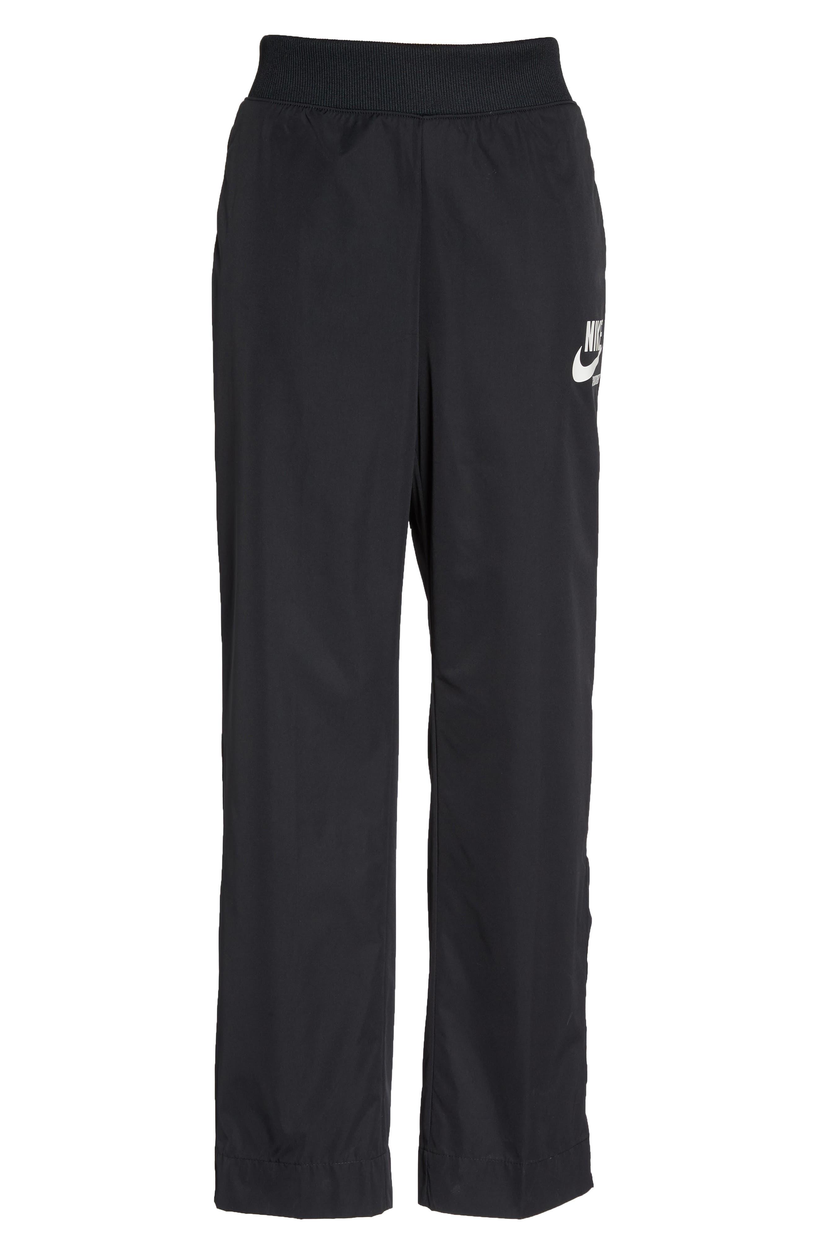 Sportswear Archive Snap Track Pants,                             Alternate thumbnail 7, color,                             Black/ Sail
