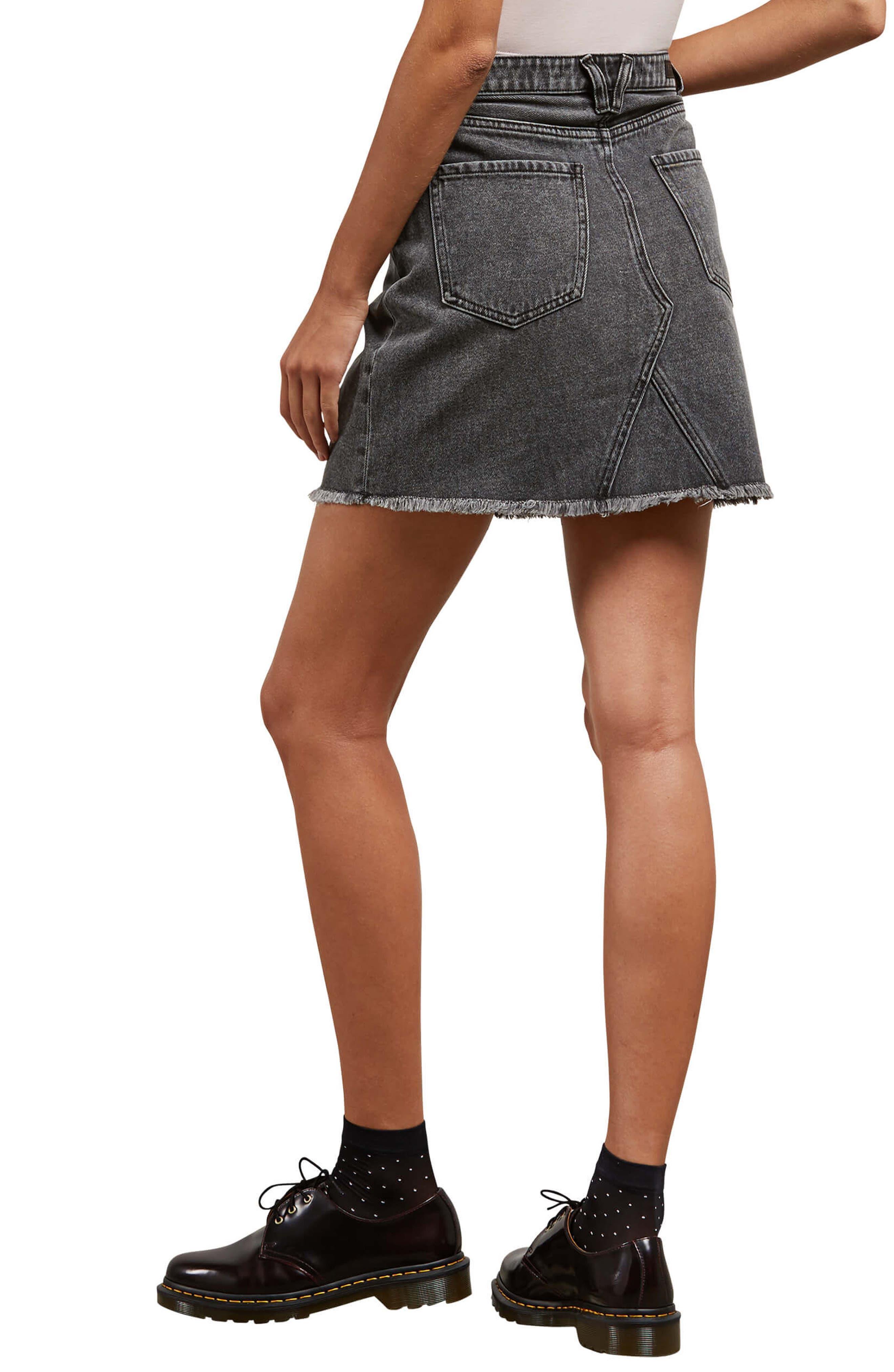 Alternate Image 3  - Volcom Stoned Denim Skirt