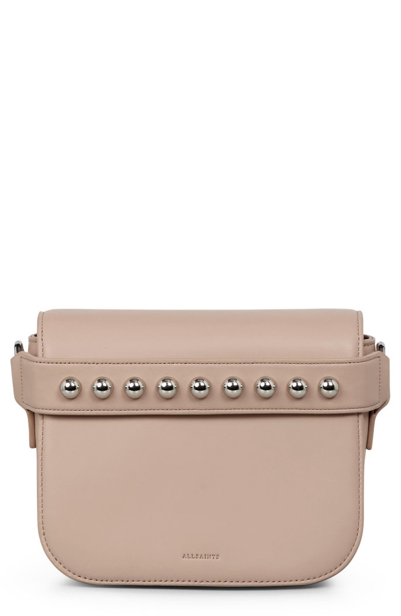 ALLSAINTS Suzi Studded Leather Clutch