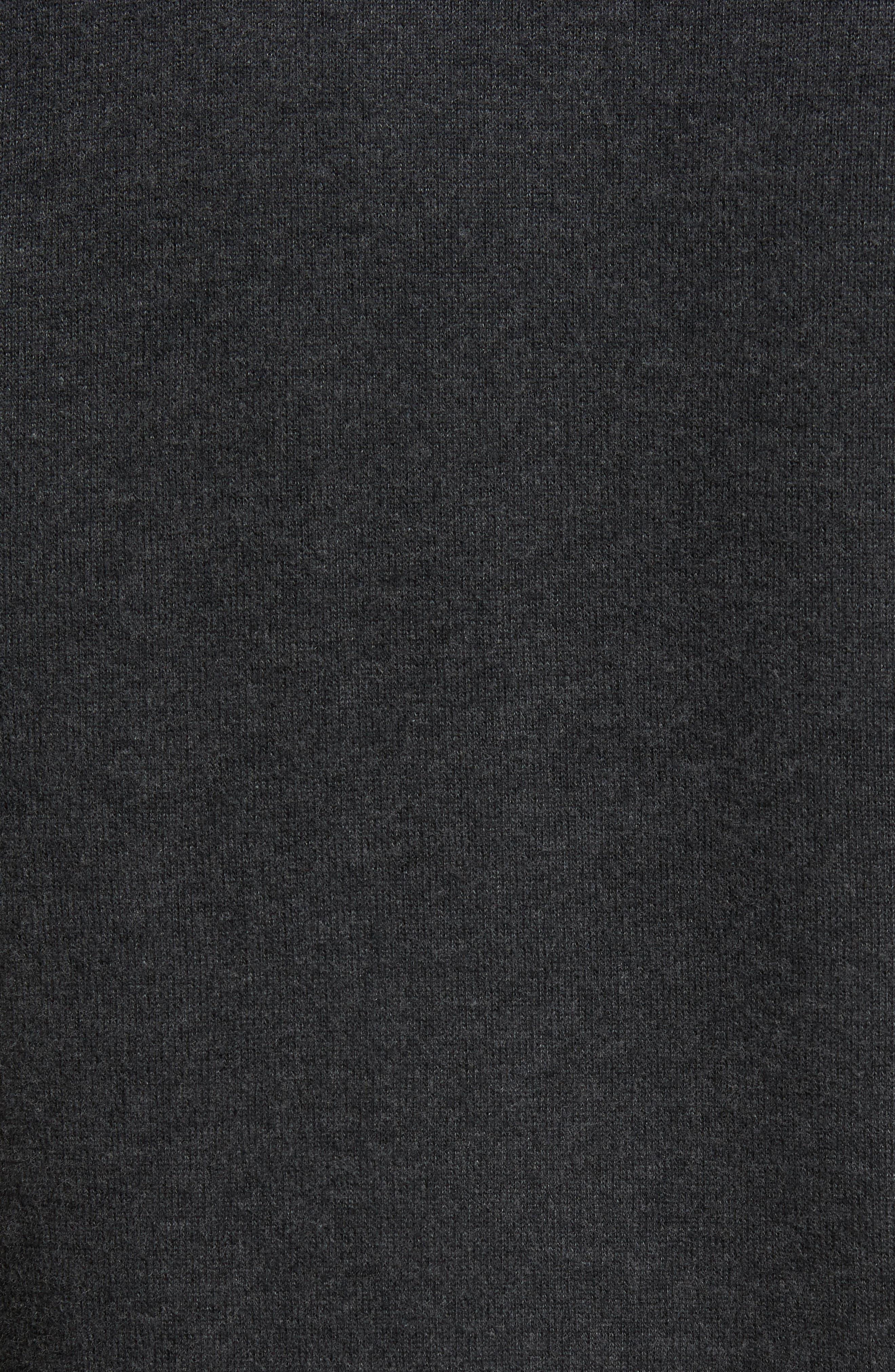 Flip Side Reversible Quarter Zip Pullover,                             Alternate thumbnail 4, color,                             Steel Wool Heather