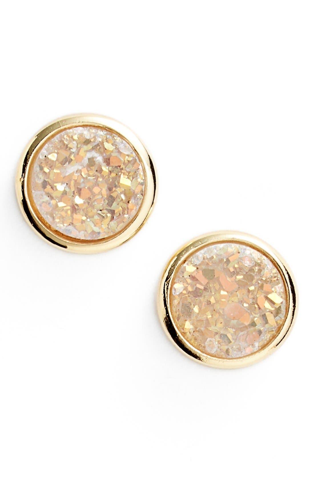 Alternate Image 1 Selected - Marcia Moran Mini Drusy Stud Earrings