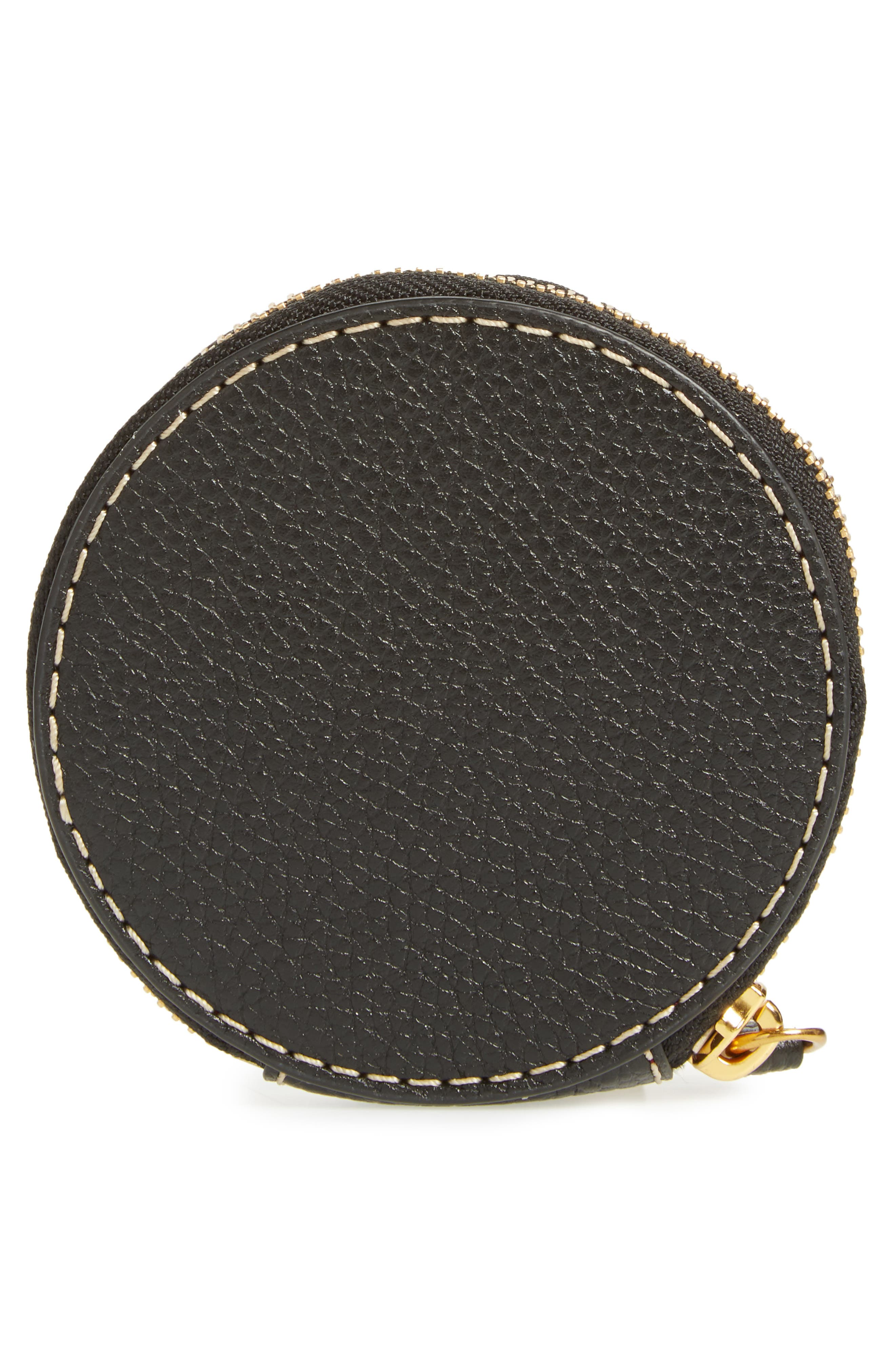 The Grind Leather Coin Pouch,                             Alternate thumbnail 4, color,                             Black