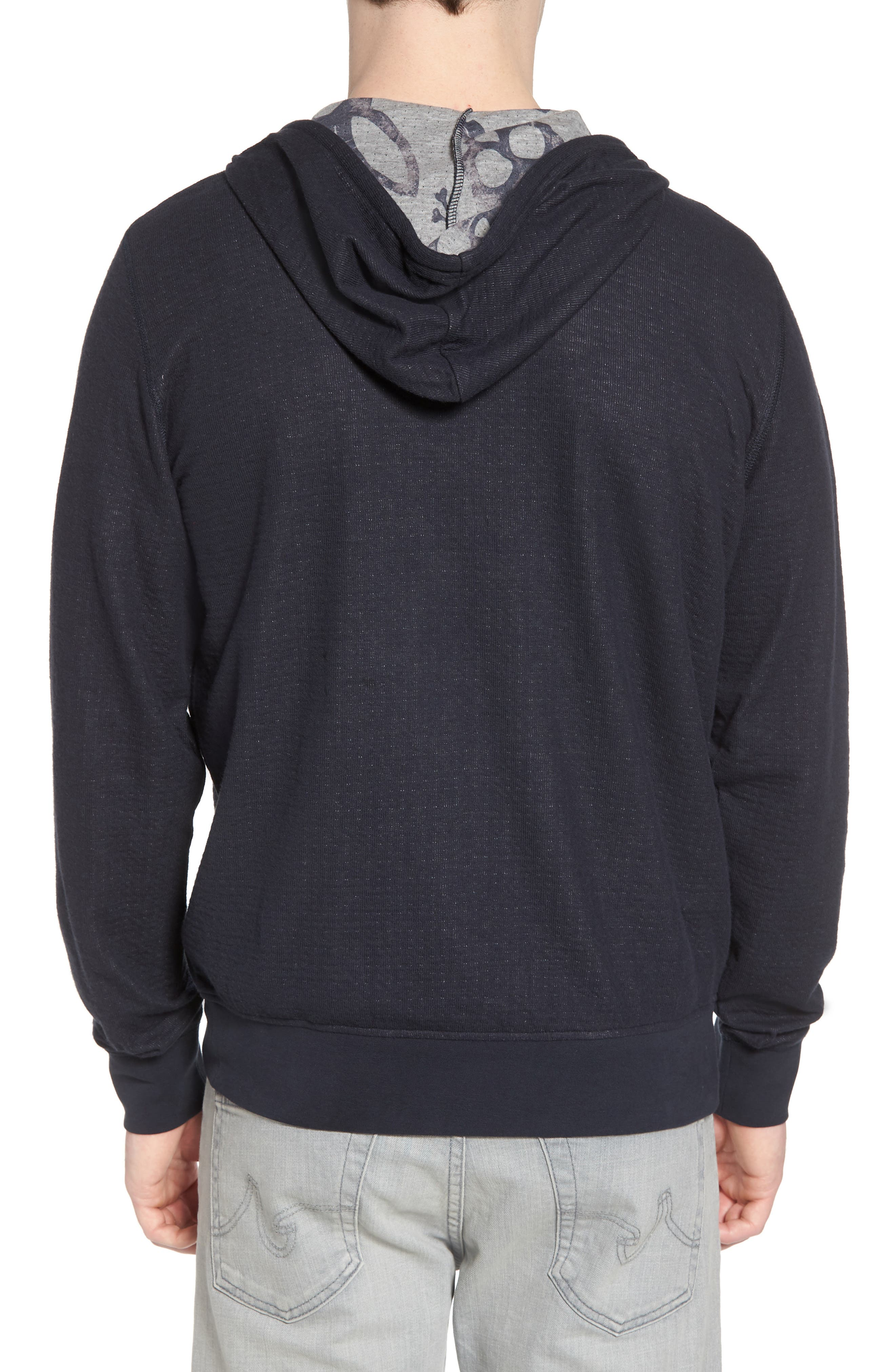 Double Face Hoodie,                             Alternate thumbnail 2, color,                             Navy