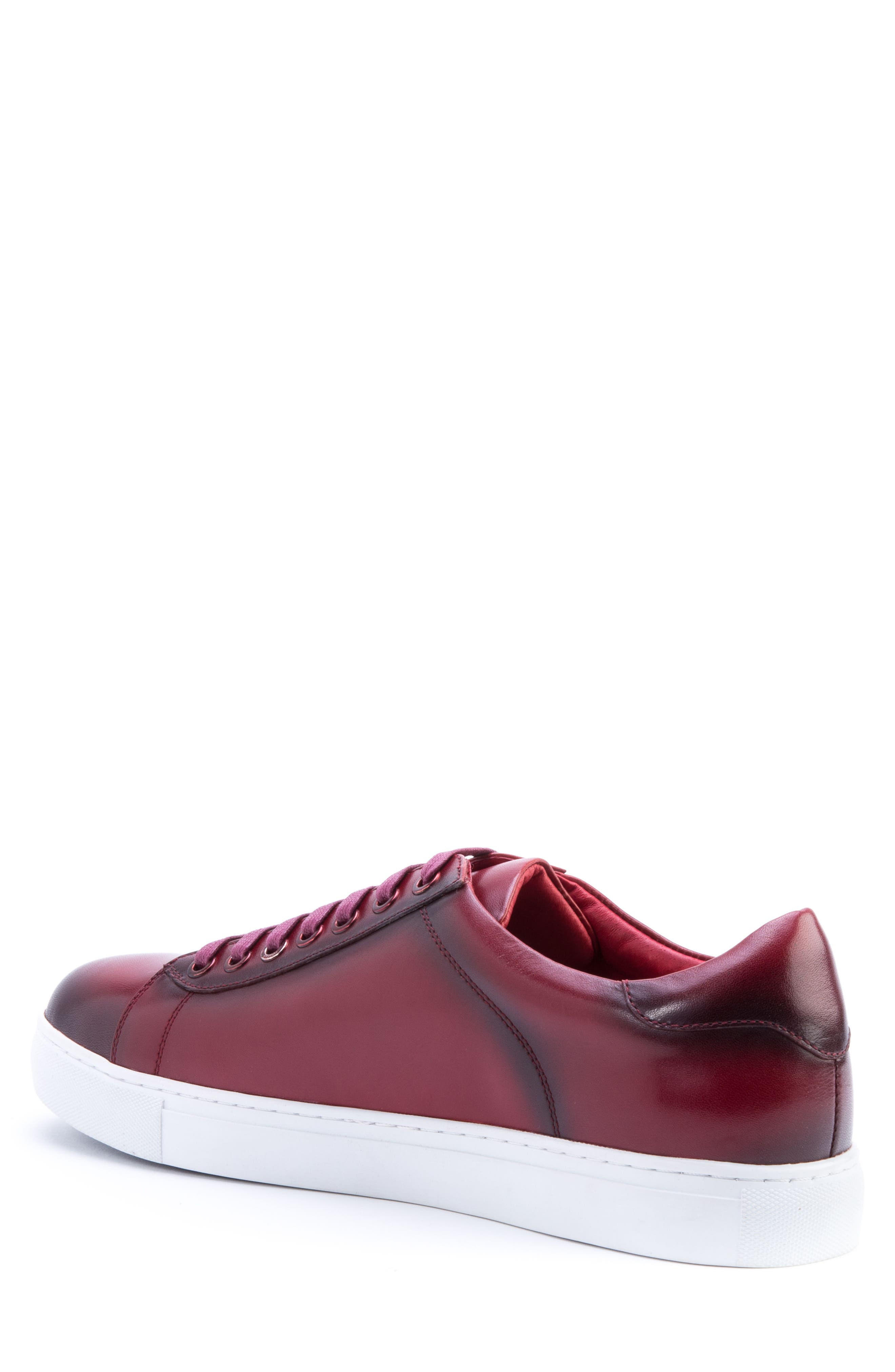Music Low Top Sneaker,                             Alternate thumbnail 2, color,                             Red Leather