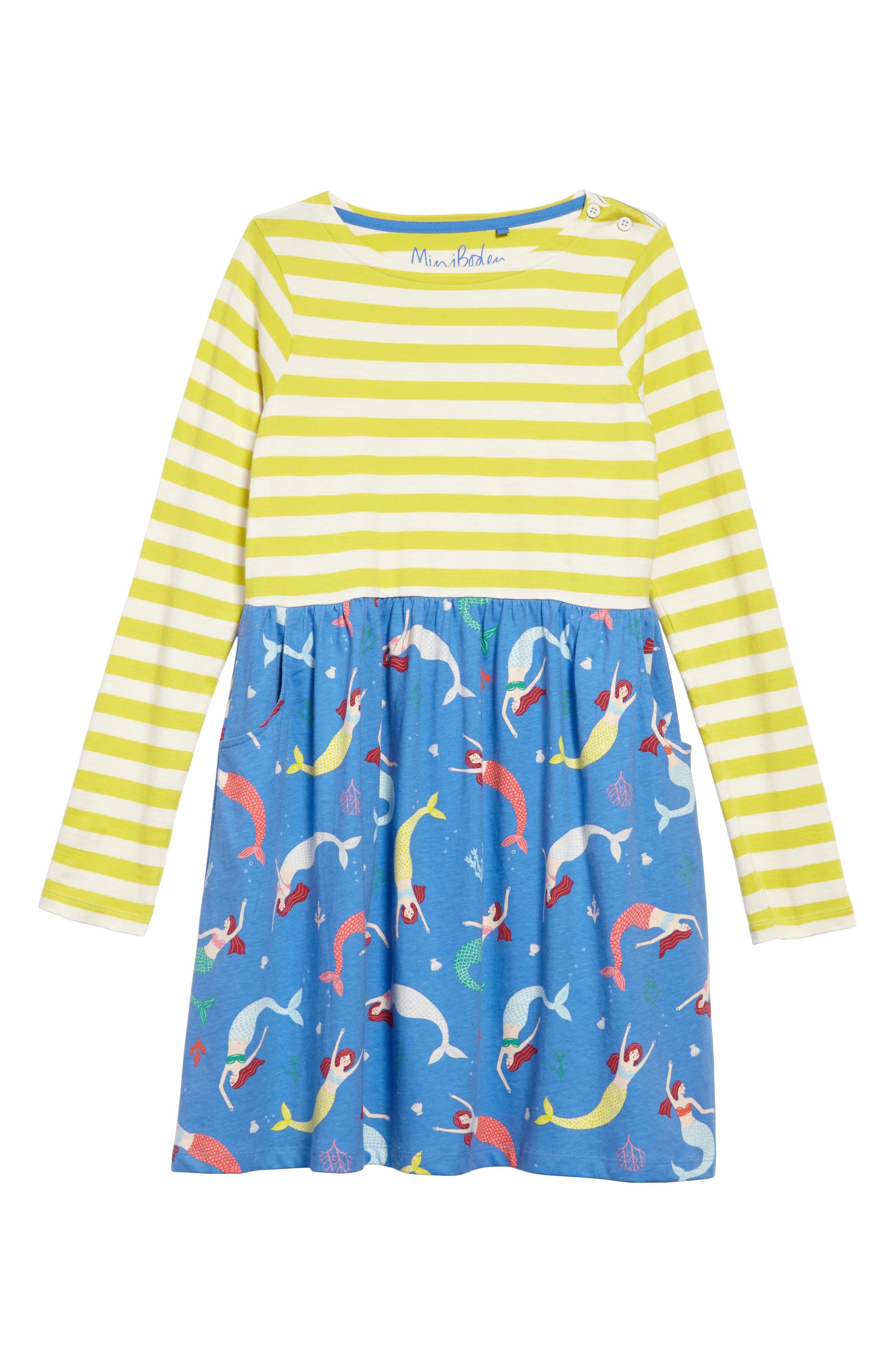 Hotchpotch Jersey Dress,                             Main thumbnail 1, color,                             Penzance Blue Mermaid