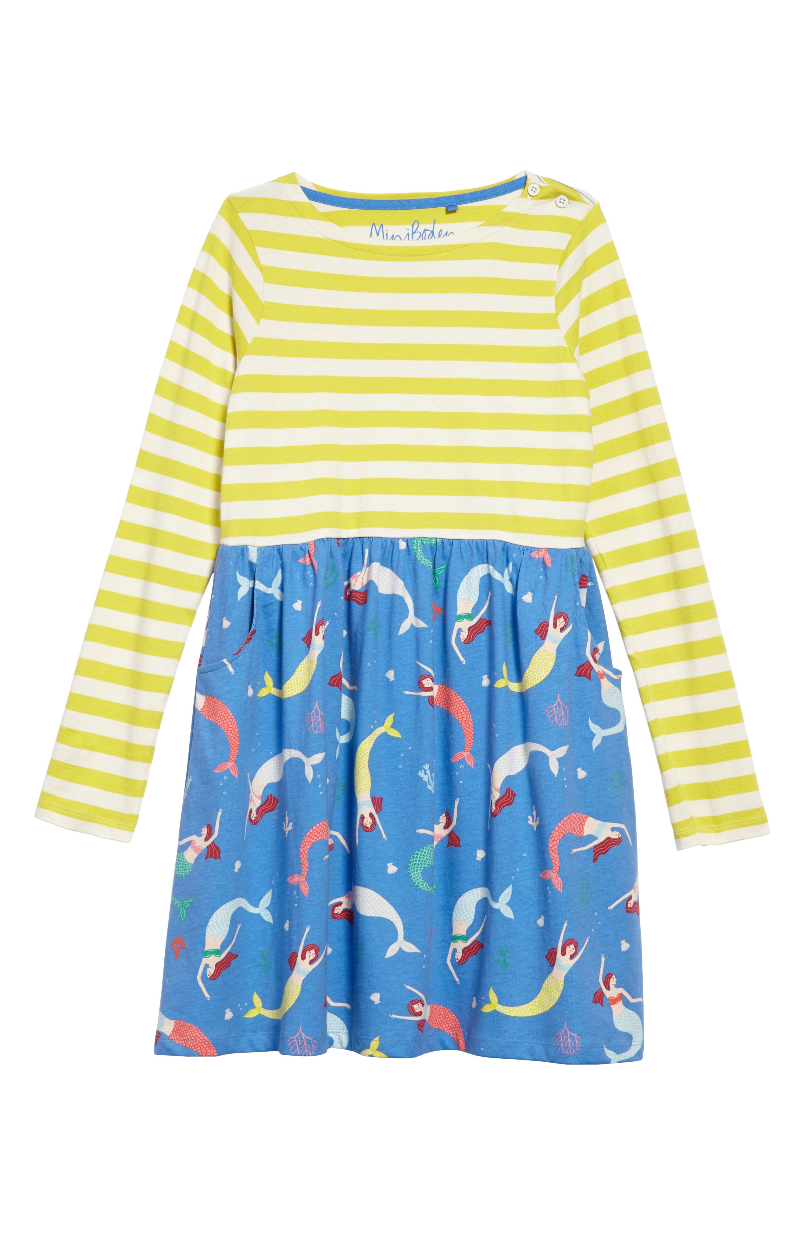 Hotchpotch Jersey Dress,                         Main,                         color, Penzance Blue Mermaid