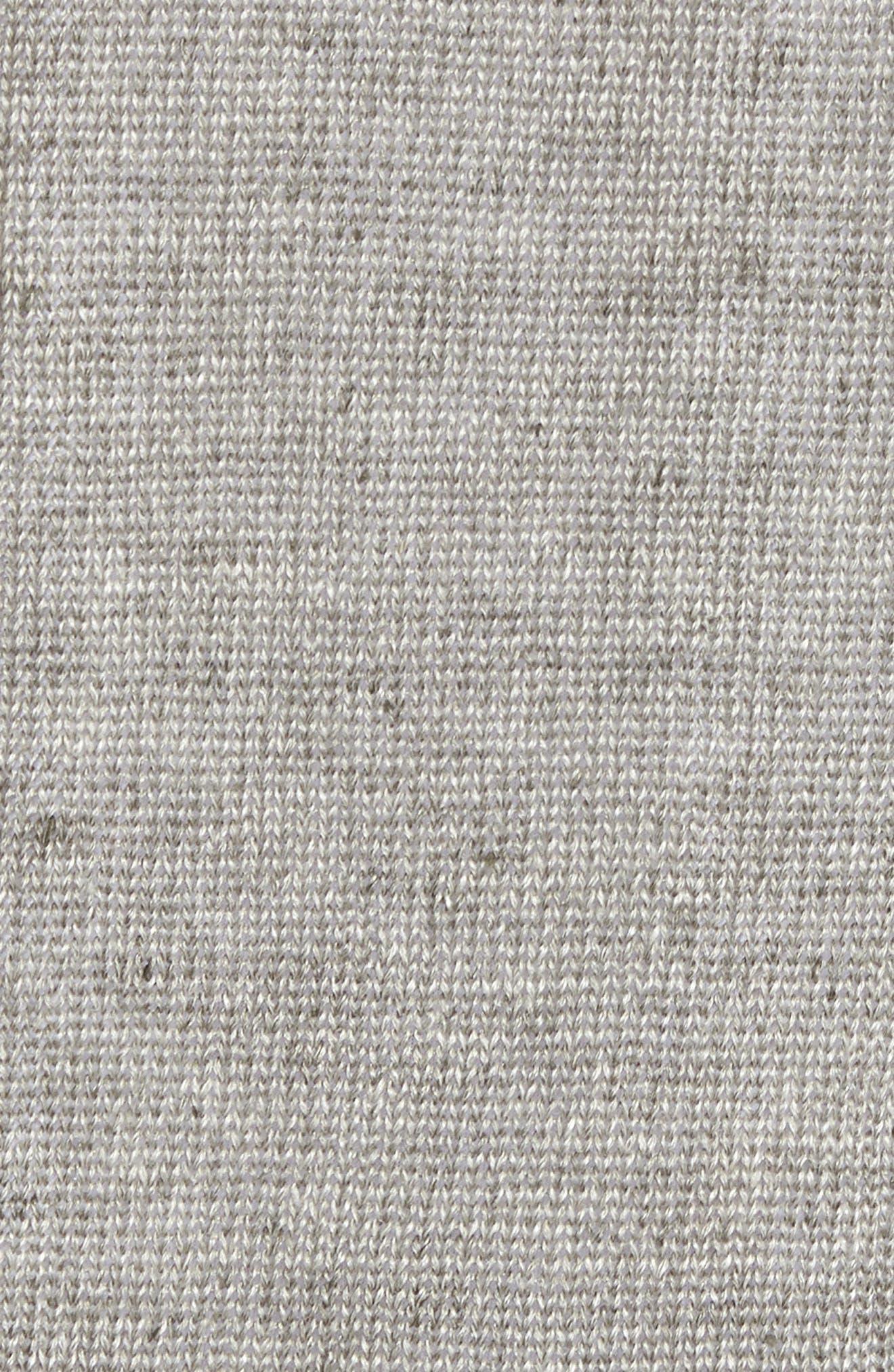 Slim Fit Linen Crewneck Sweater,                             Alternate thumbnail 5, color,                             Silver