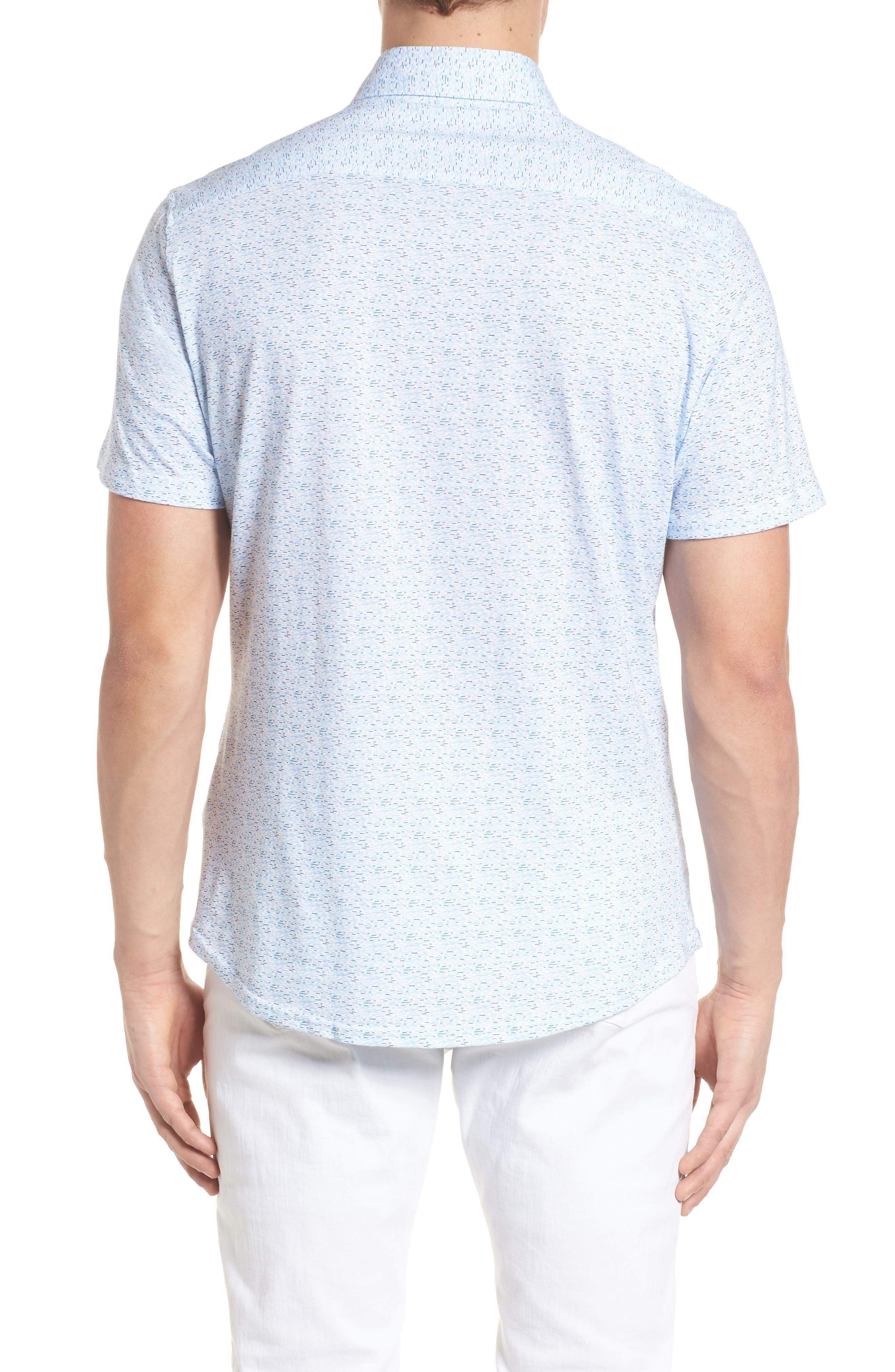 Knit Sport Shirt,                             Alternate thumbnail 2, color,                             Blue