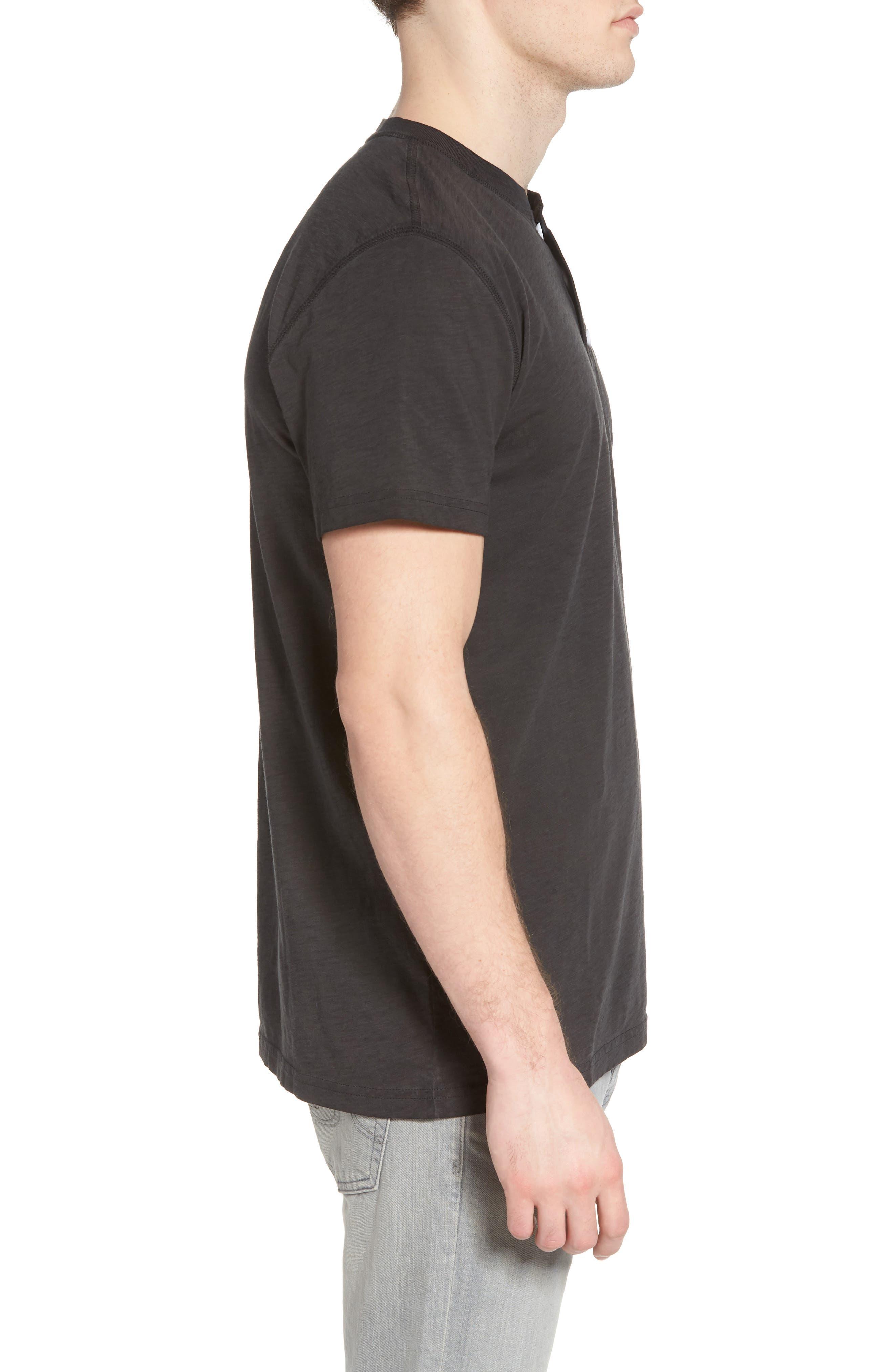 Sunwash Henley T-Shirt,                             Alternate thumbnail 3, color,                             Black