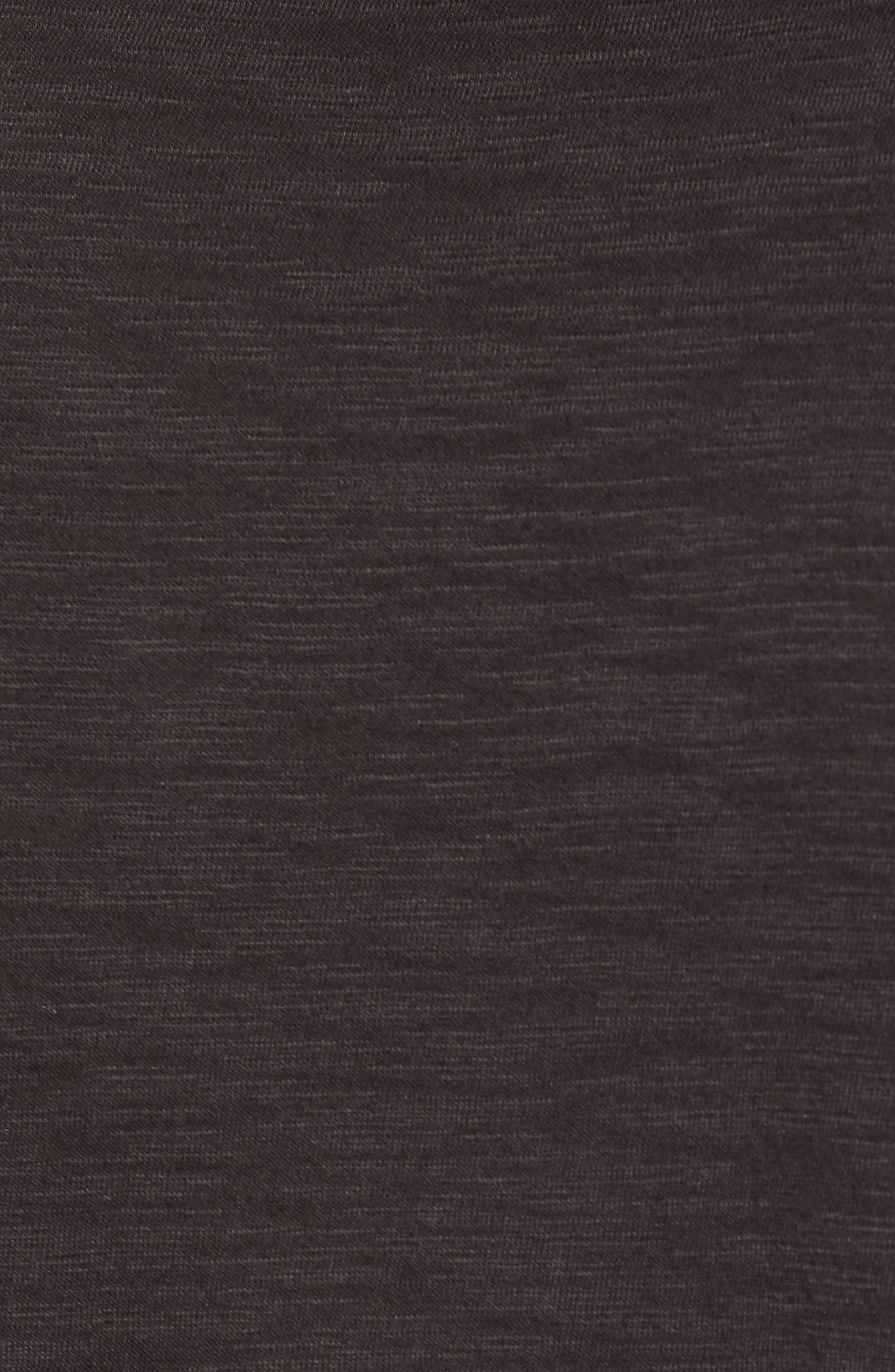 Slim Fit Slubbed T-Shirt,                             Alternate thumbnail 5, color,                             Black