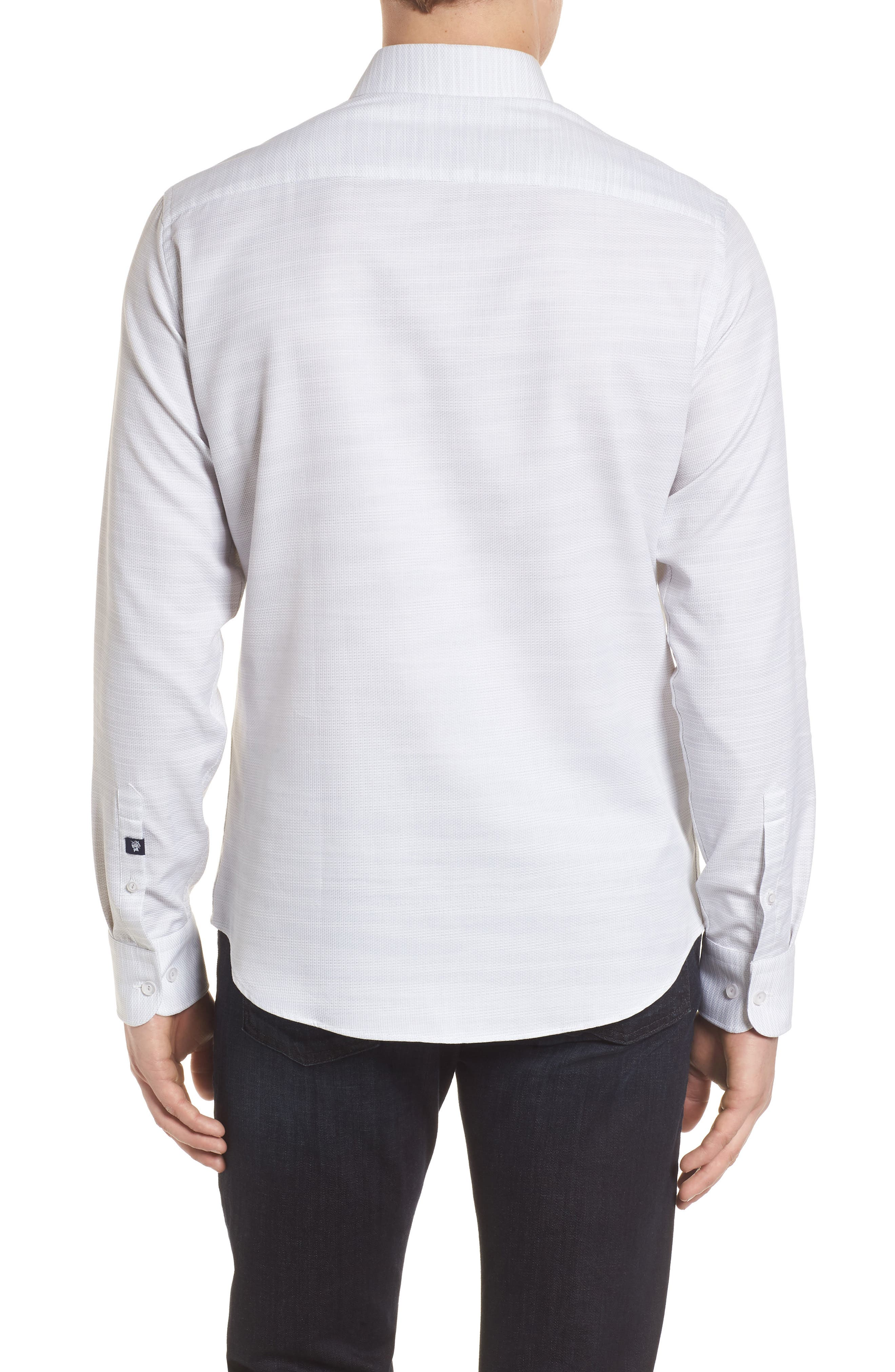 Contemporary Fit Mélange Texture Sport Shirt,                             Alternate thumbnail 2, color,                             Sand
