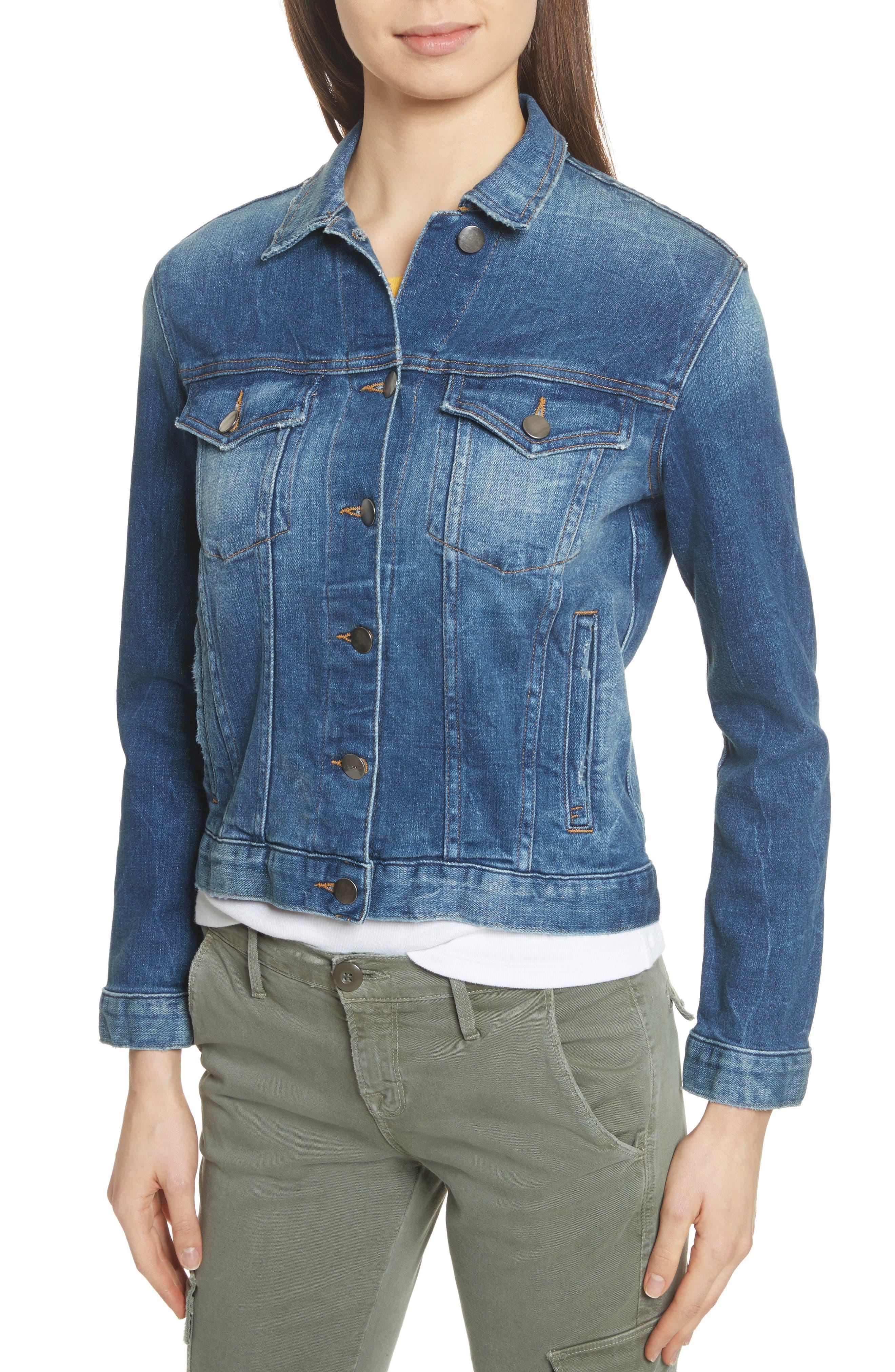 Le Vintage Denim Jacket,                             Alternate thumbnail 5, color,                             Waltham Way