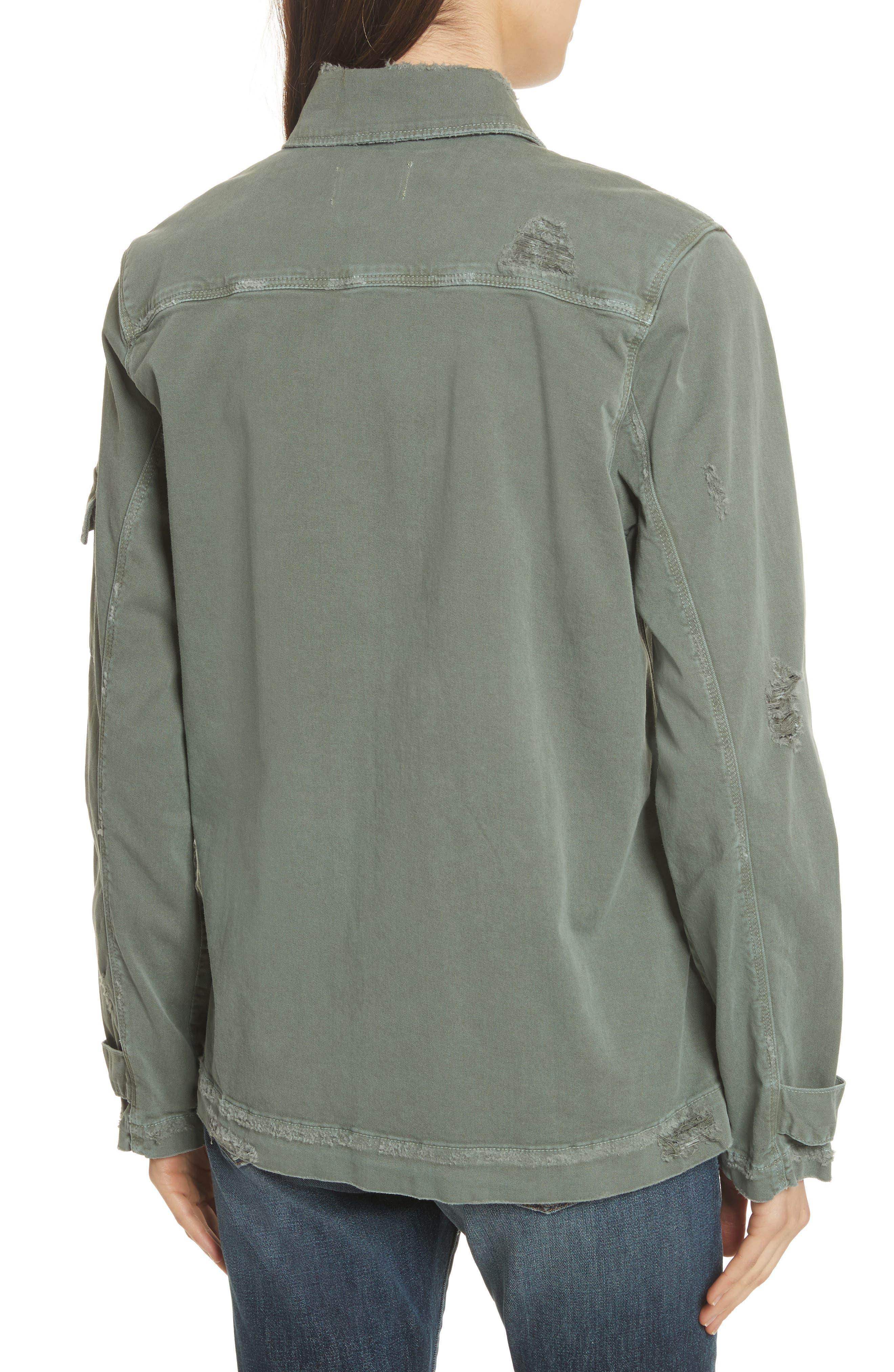Slouchy Utility Jacket,                             Alternate thumbnail 3, color,                             Platoon