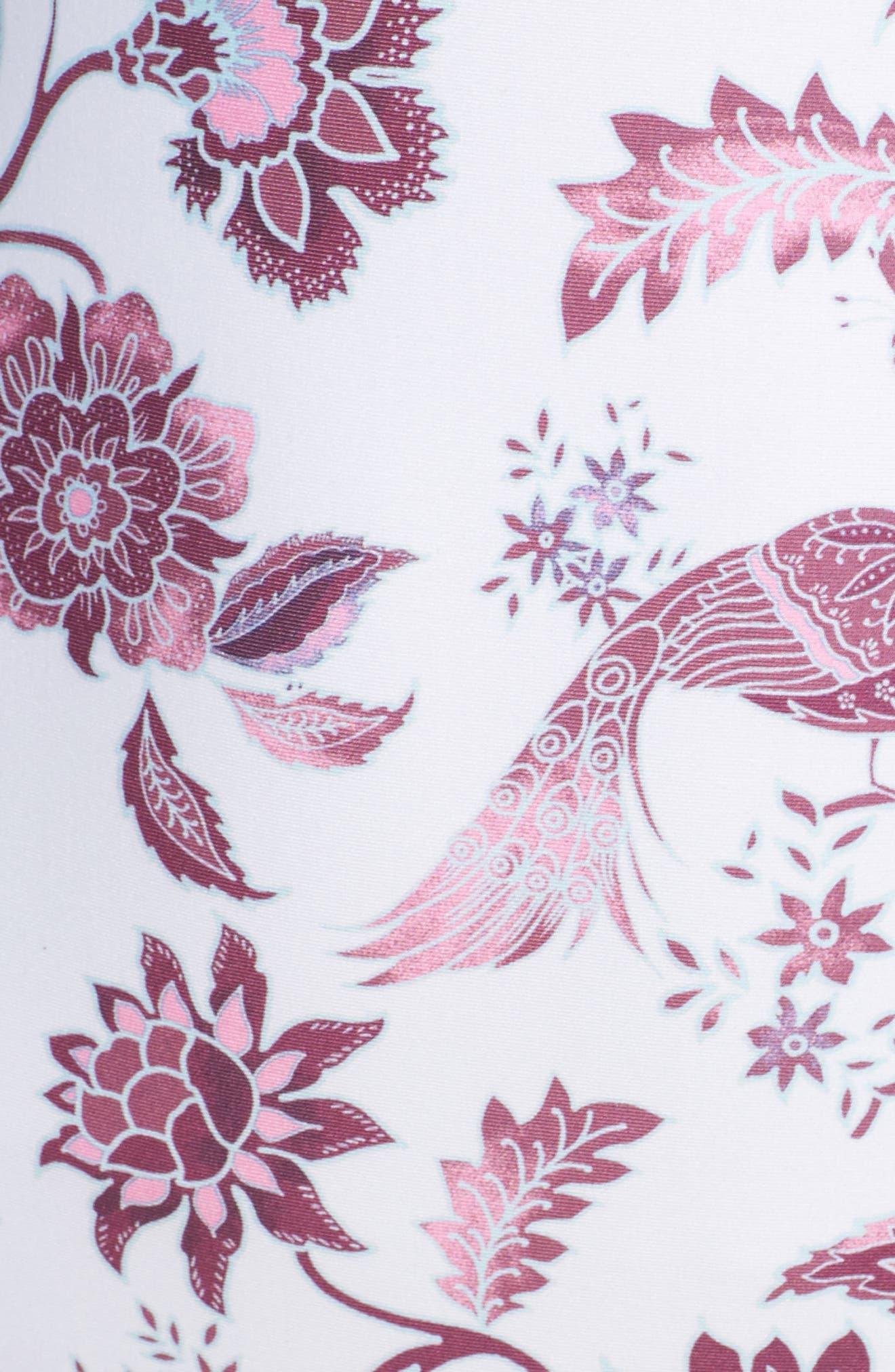 Tahiti One-Piece Swimsuit,                             Alternate thumbnail 5, color,                             White/ Pink Multi