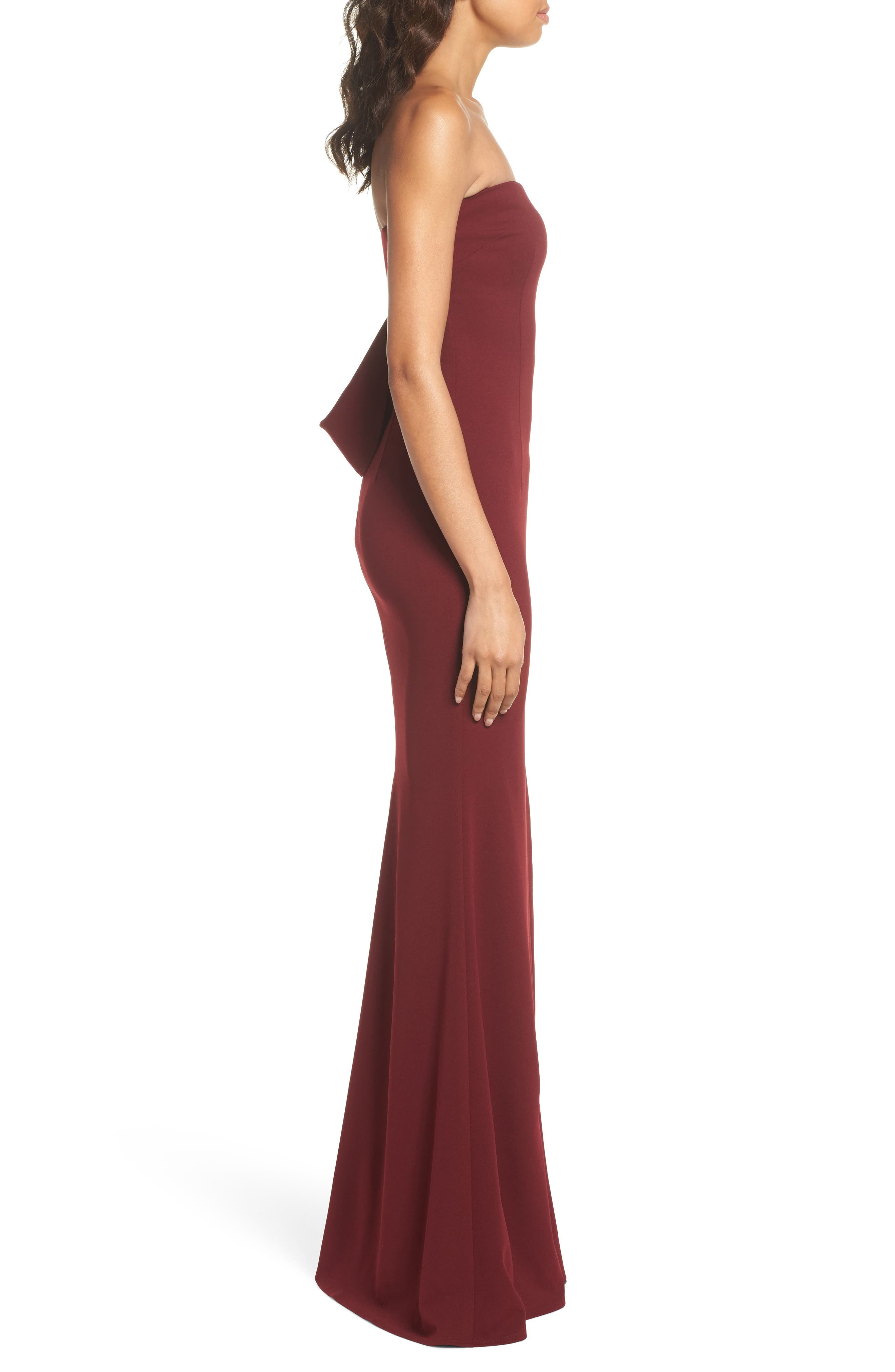 Alternate Image 3  - Katie May Strapless Cutout Back Gown