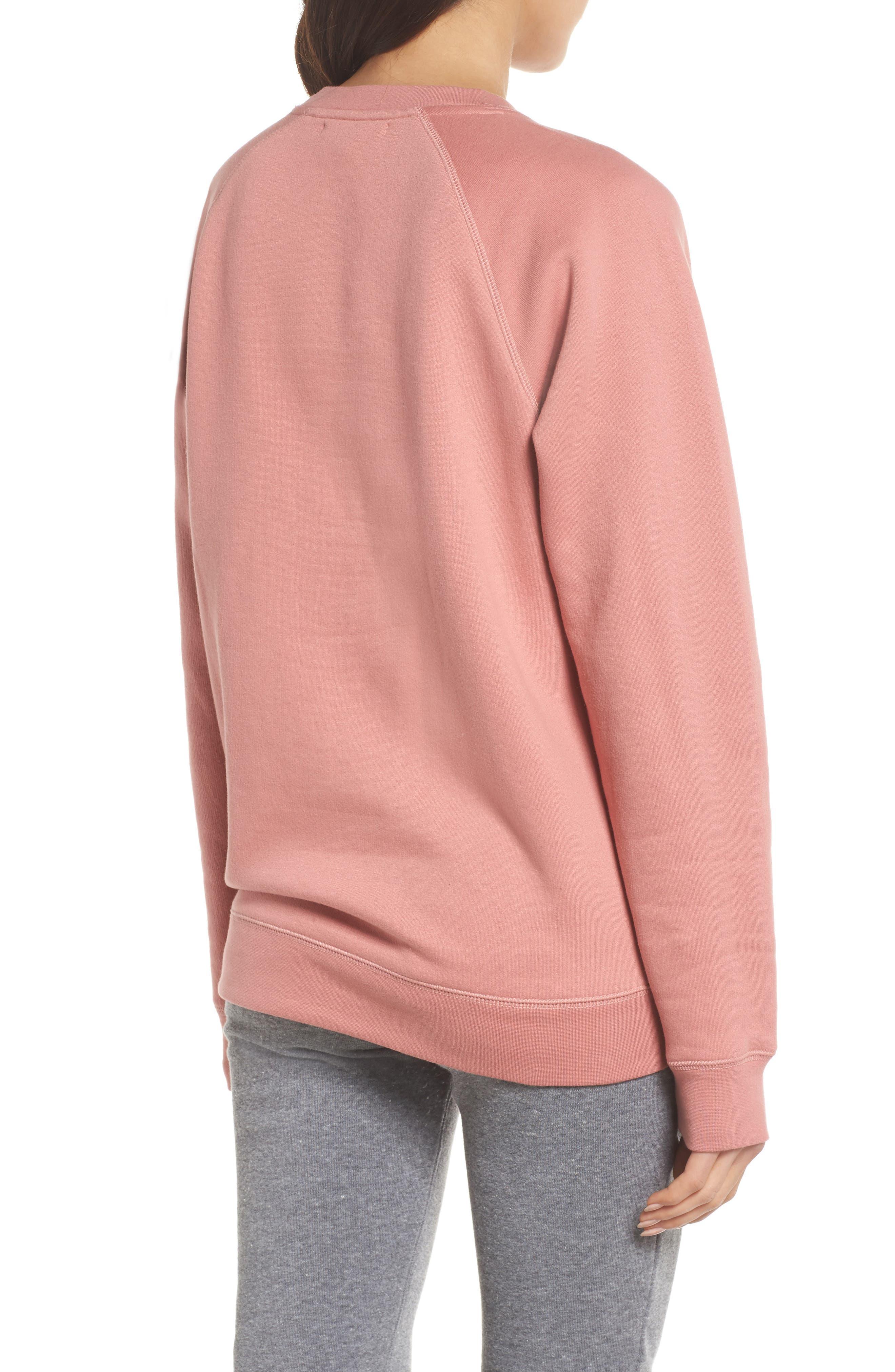 Brunette Crewneck Sweatshirt,                             Alternate thumbnail 2, color,                             Dusty Rose