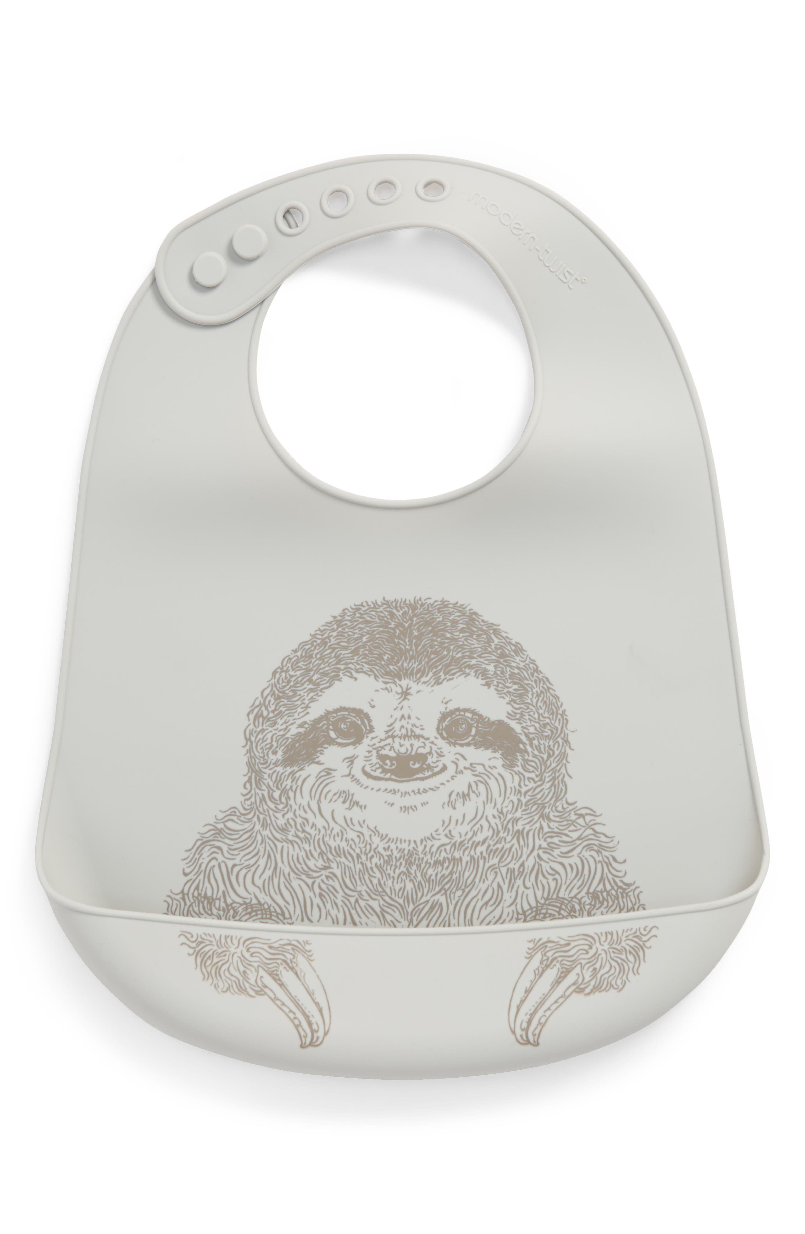 Main Image - modern-twist Silly Sloth Bucket Bib