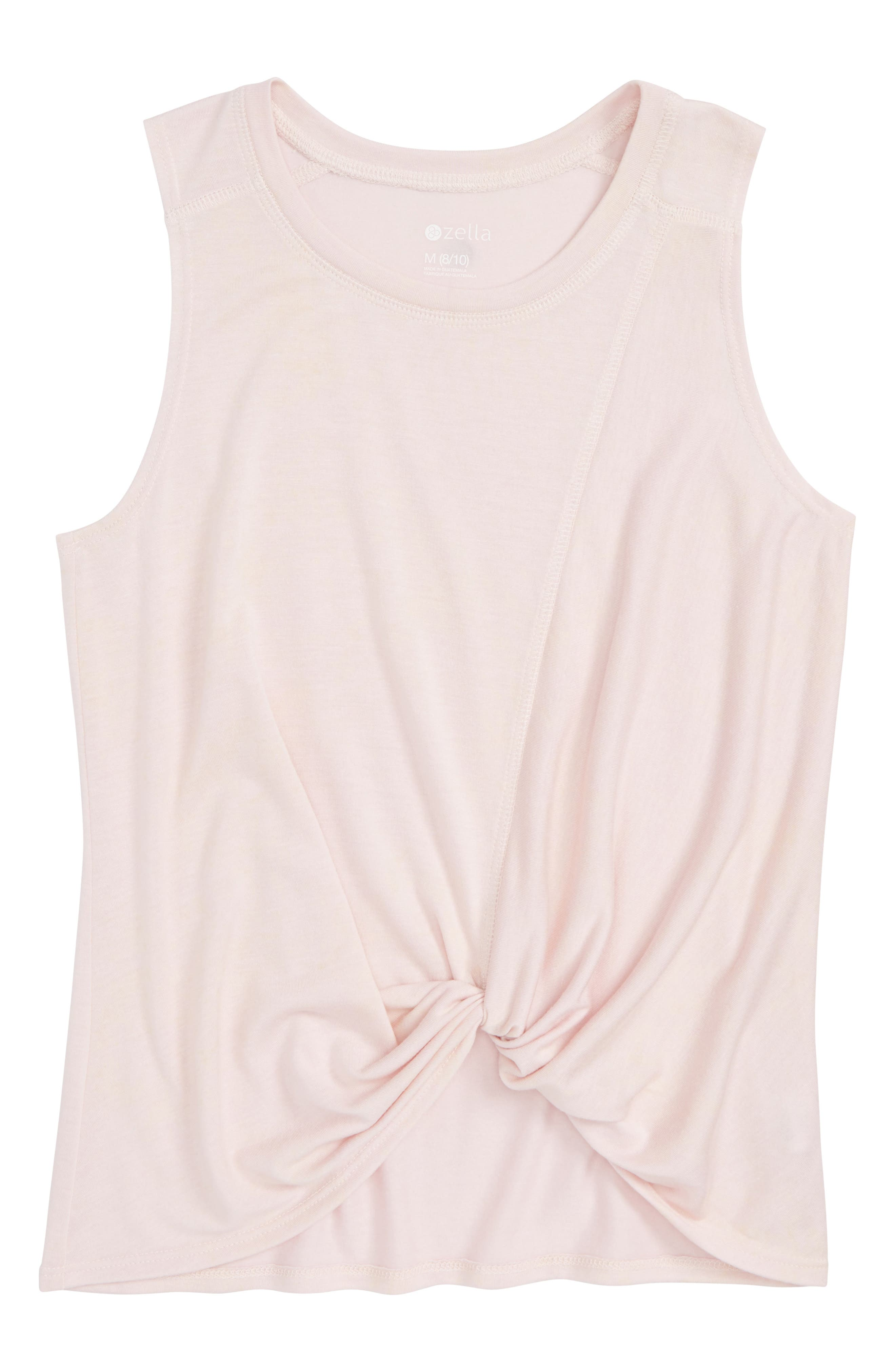 Knotted Tank,                         Main,                         color, Pink Cake Wash