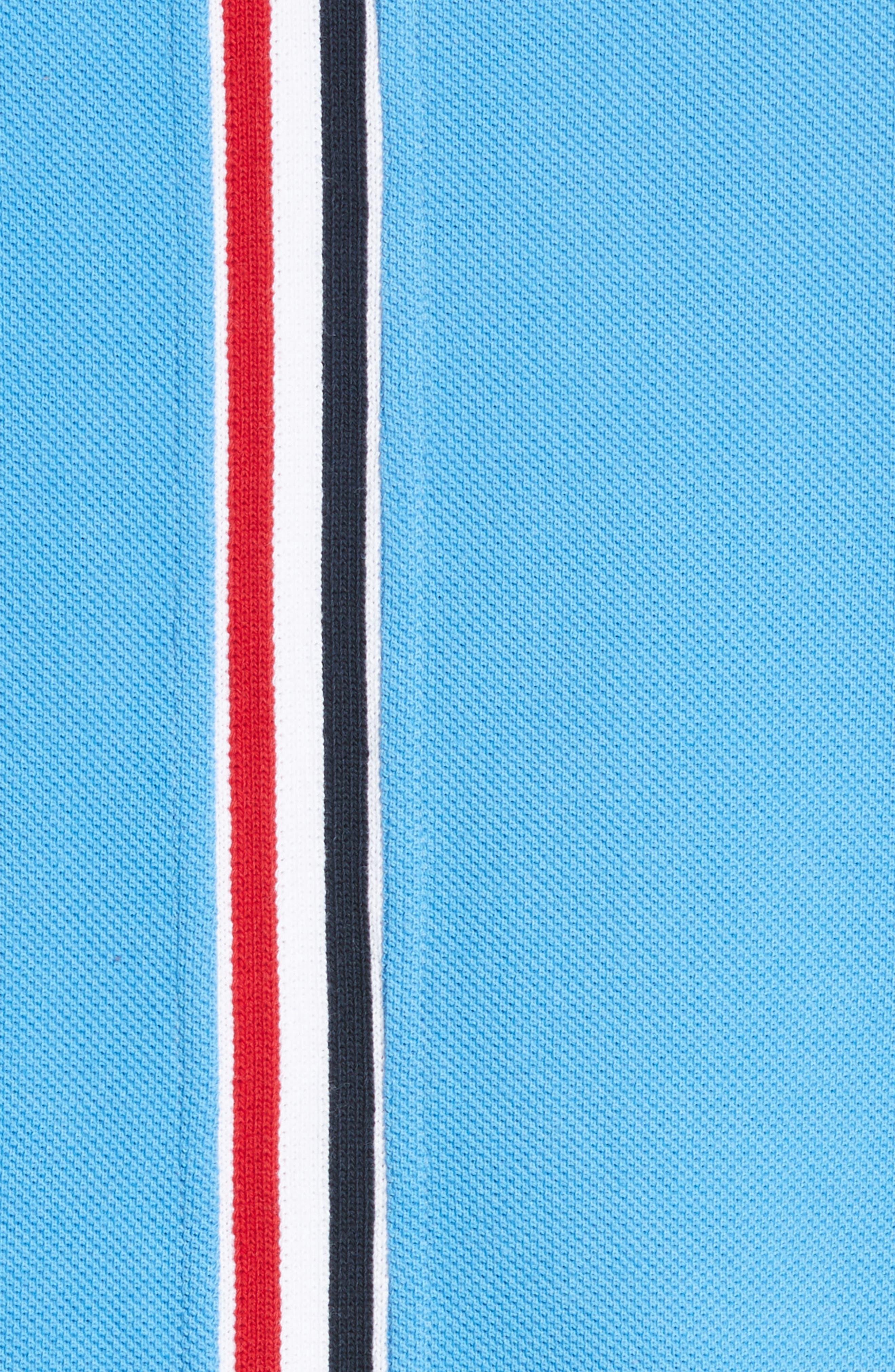 Stripe Crewneck T-Shirt,                             Alternate thumbnail 5, color,                             Light Blue