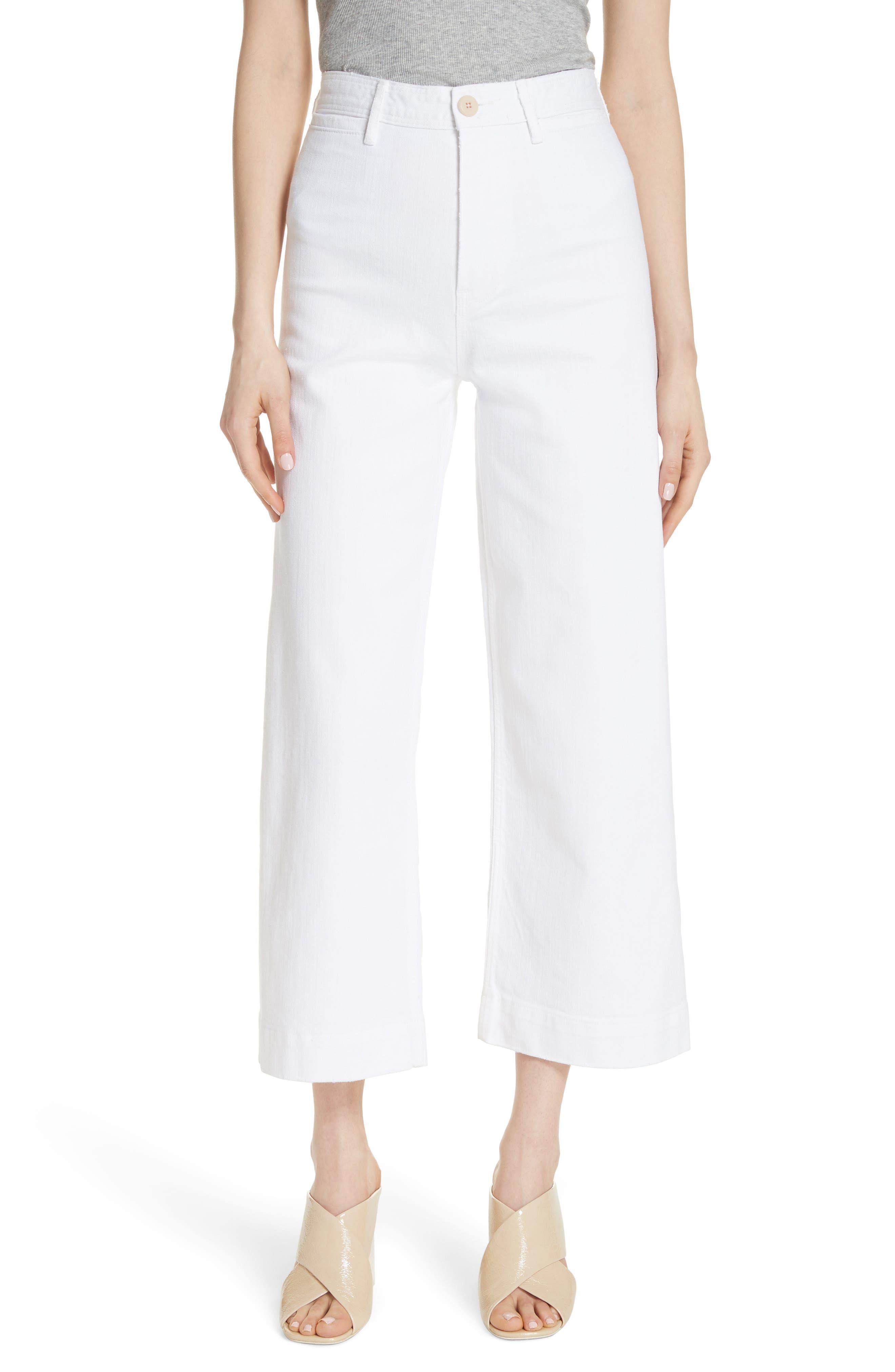 La Vie Rebecca Taylor Crop Jeans (Milk)