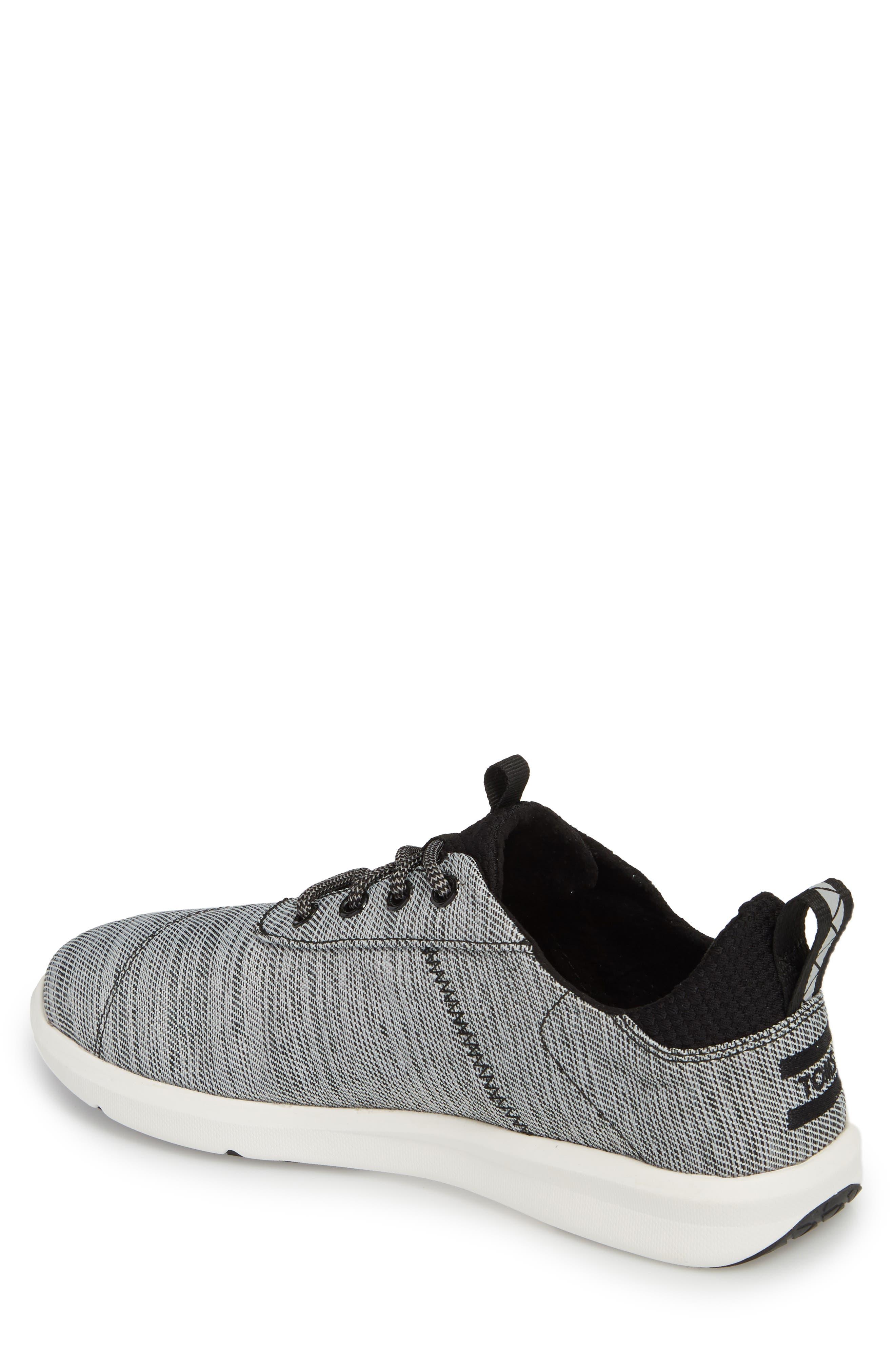 Cabrillo Sneaker,                             Alternate thumbnail 2, color,                             Black Space-Dye
