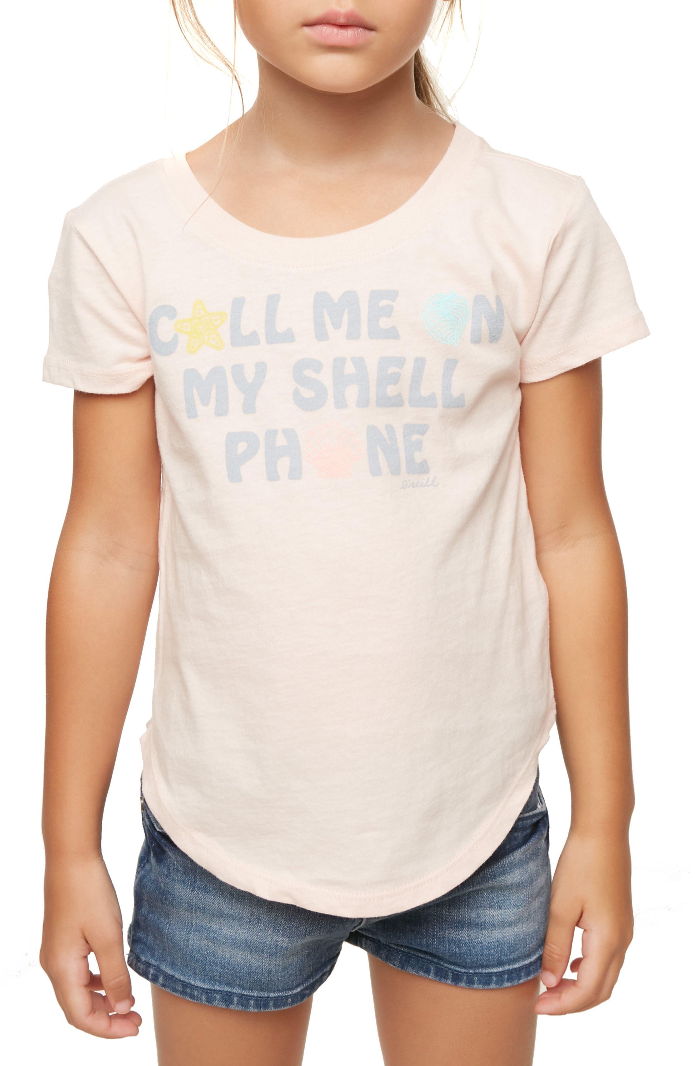 O'Neill Shell Call Graphic Tee (Toddler Girls & Little GIrls)
