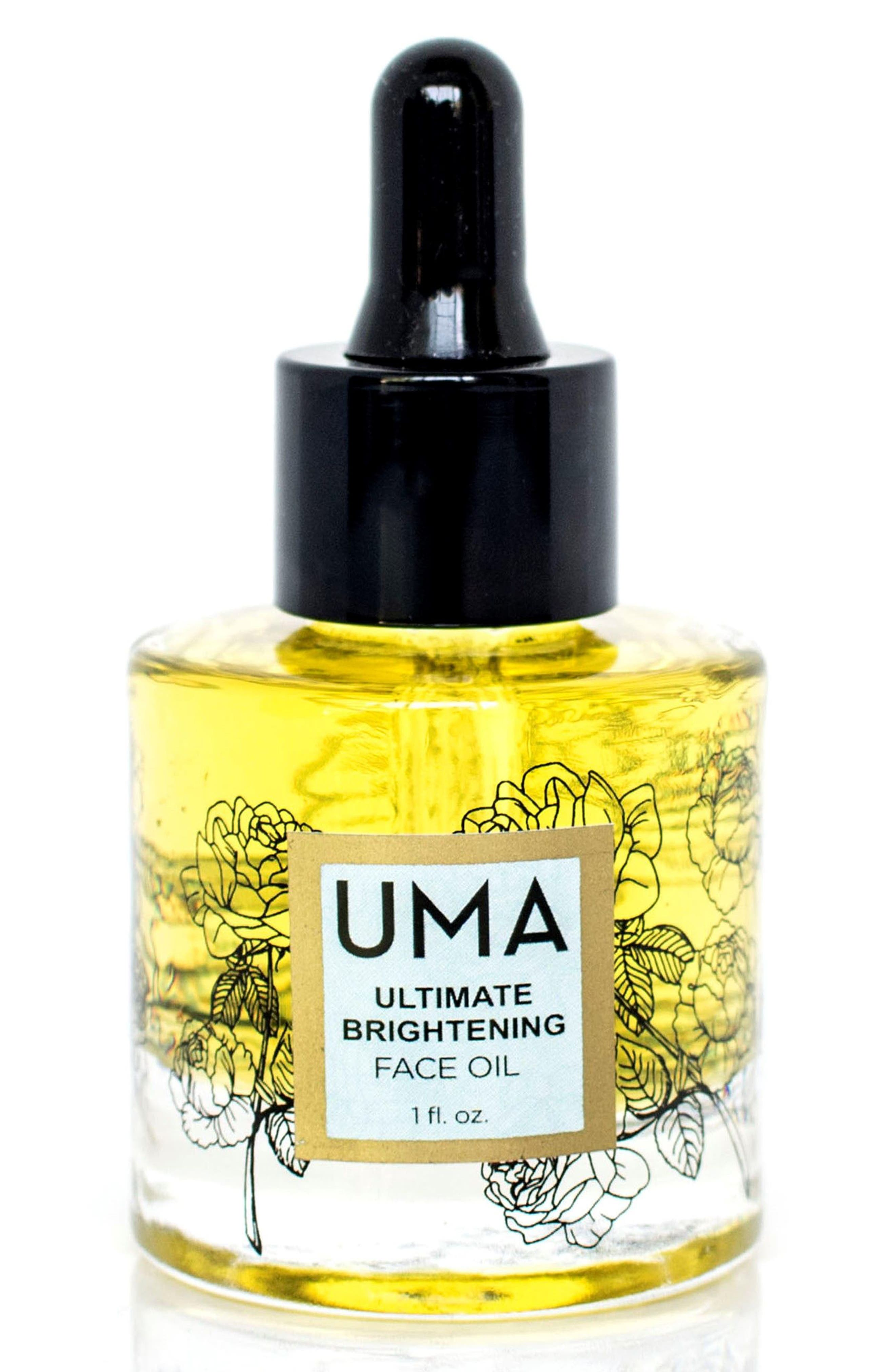 SPACE.NK.apothecary UMA Ultimate Brightening Face Oil,                             Main thumbnail 1, color,                             No Color