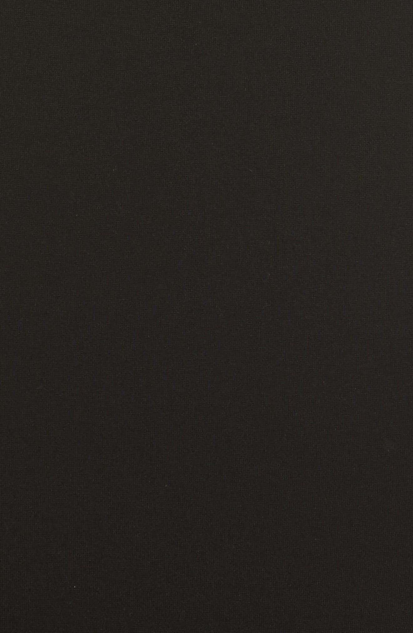 Brianna Strapless Knit Body-Con Dress,                             Alternate thumbnail 5, color,                             Black