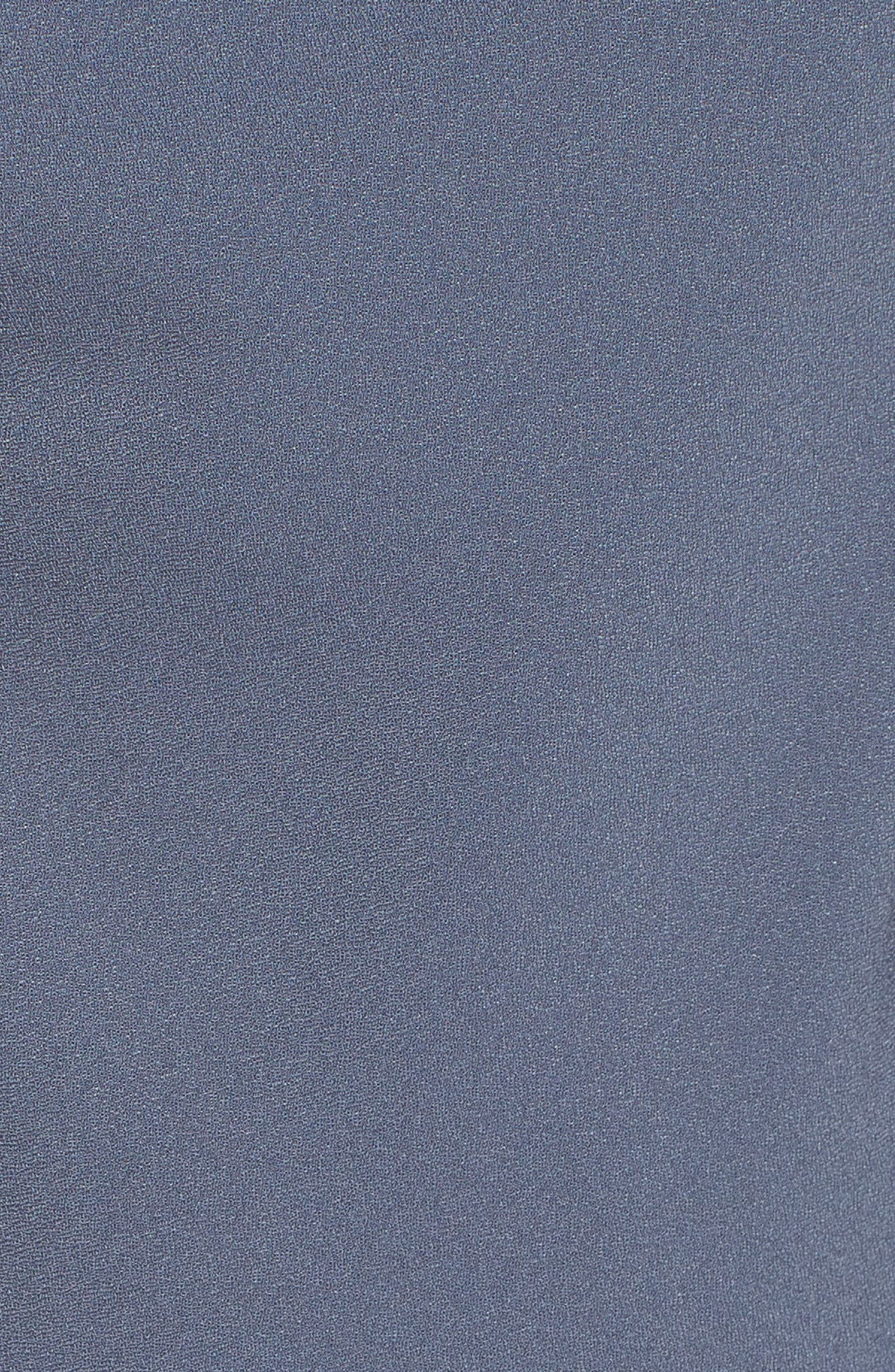 Cowl Neck Midi Dress,                             Alternate thumbnail 5, color,                             Grey Grisaille