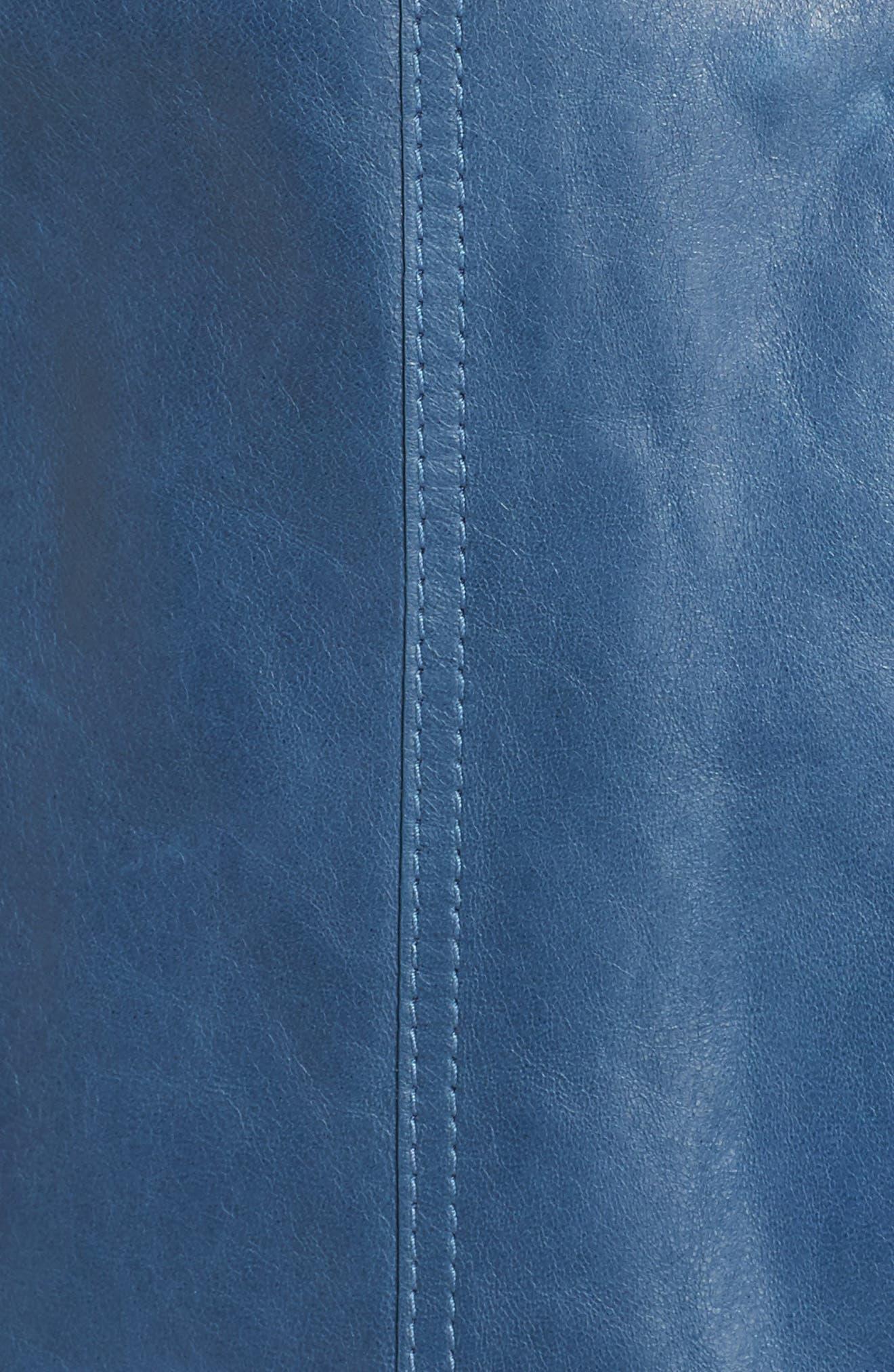 Destiny Leather Jacket,                             Alternate thumbnail 5, color,                             Placid Blue