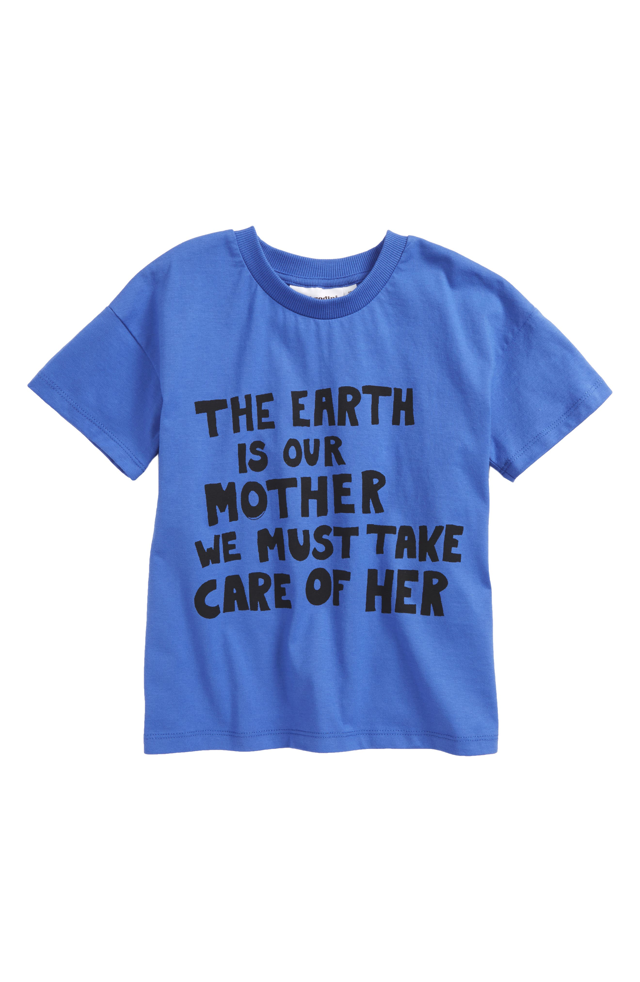 The Earth Is Our Mother Graphic T-Shirt,                         Main,                         color, Blue