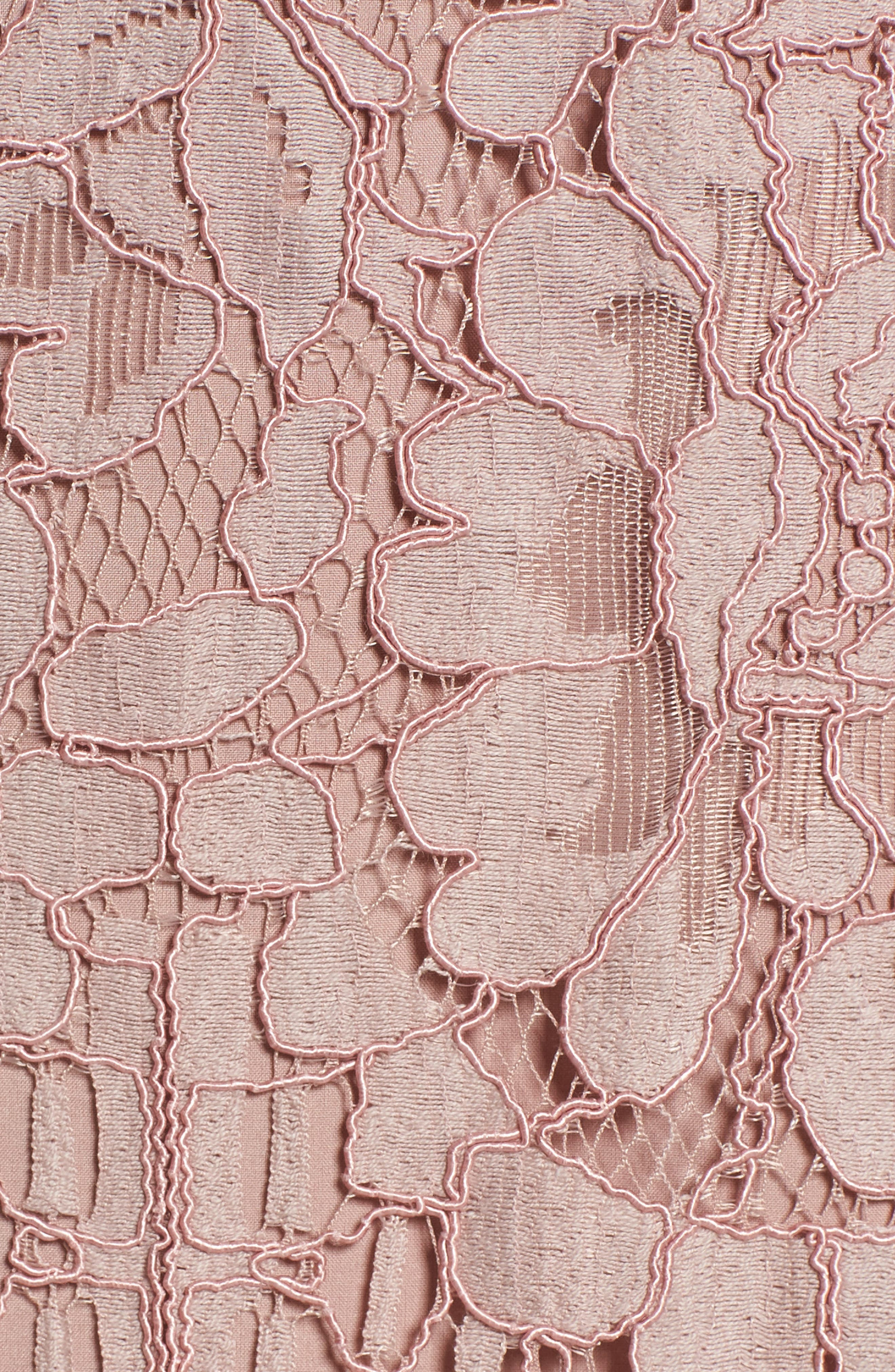 Venice Off the Shoulder Lace Minidress,                             Alternate thumbnail 5, color,                             Mauve