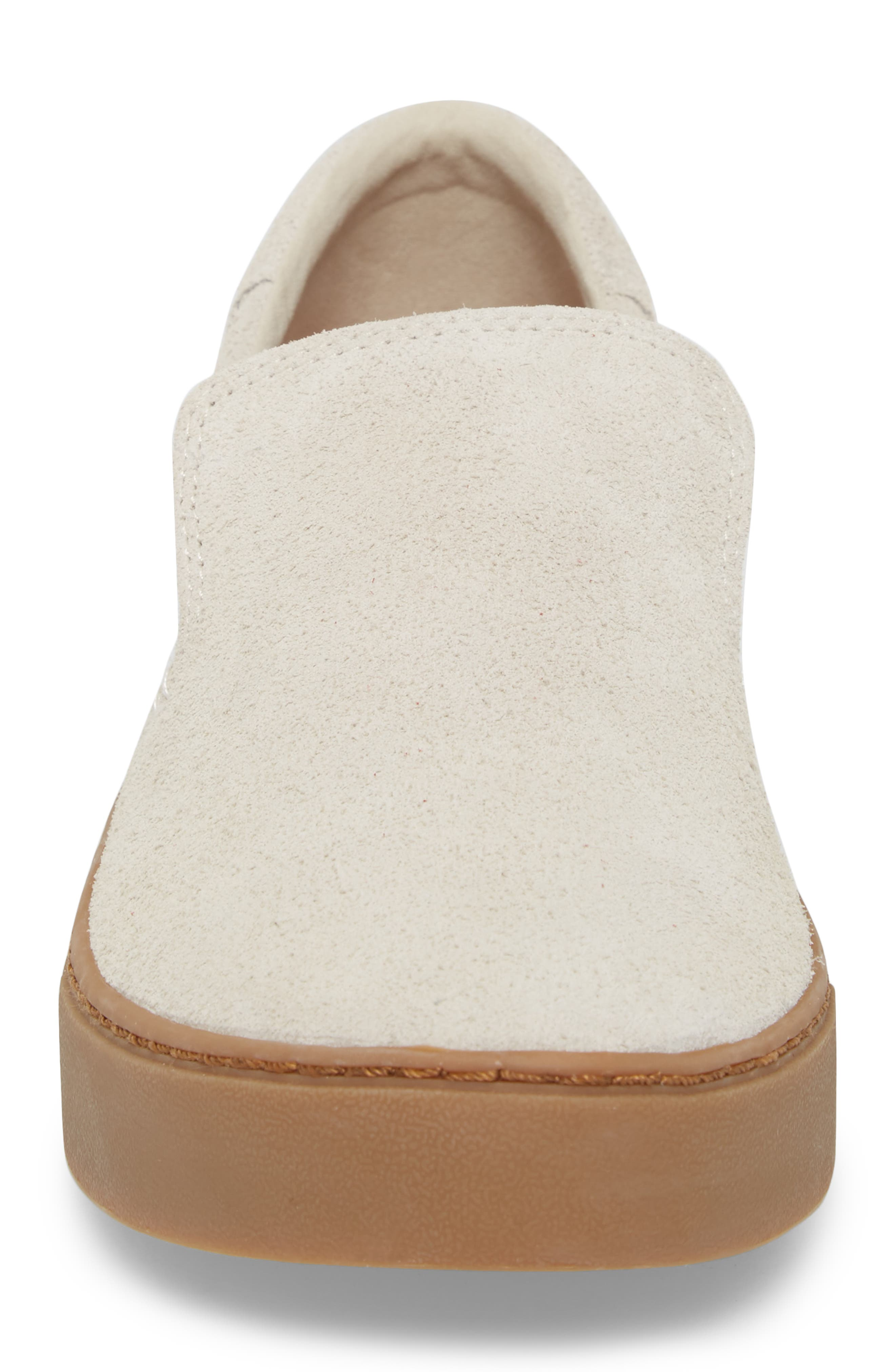 Loma Slip-On Sneaker,                             Alternate thumbnail 4, color,                             Birch Shaggy Suede/ Gum