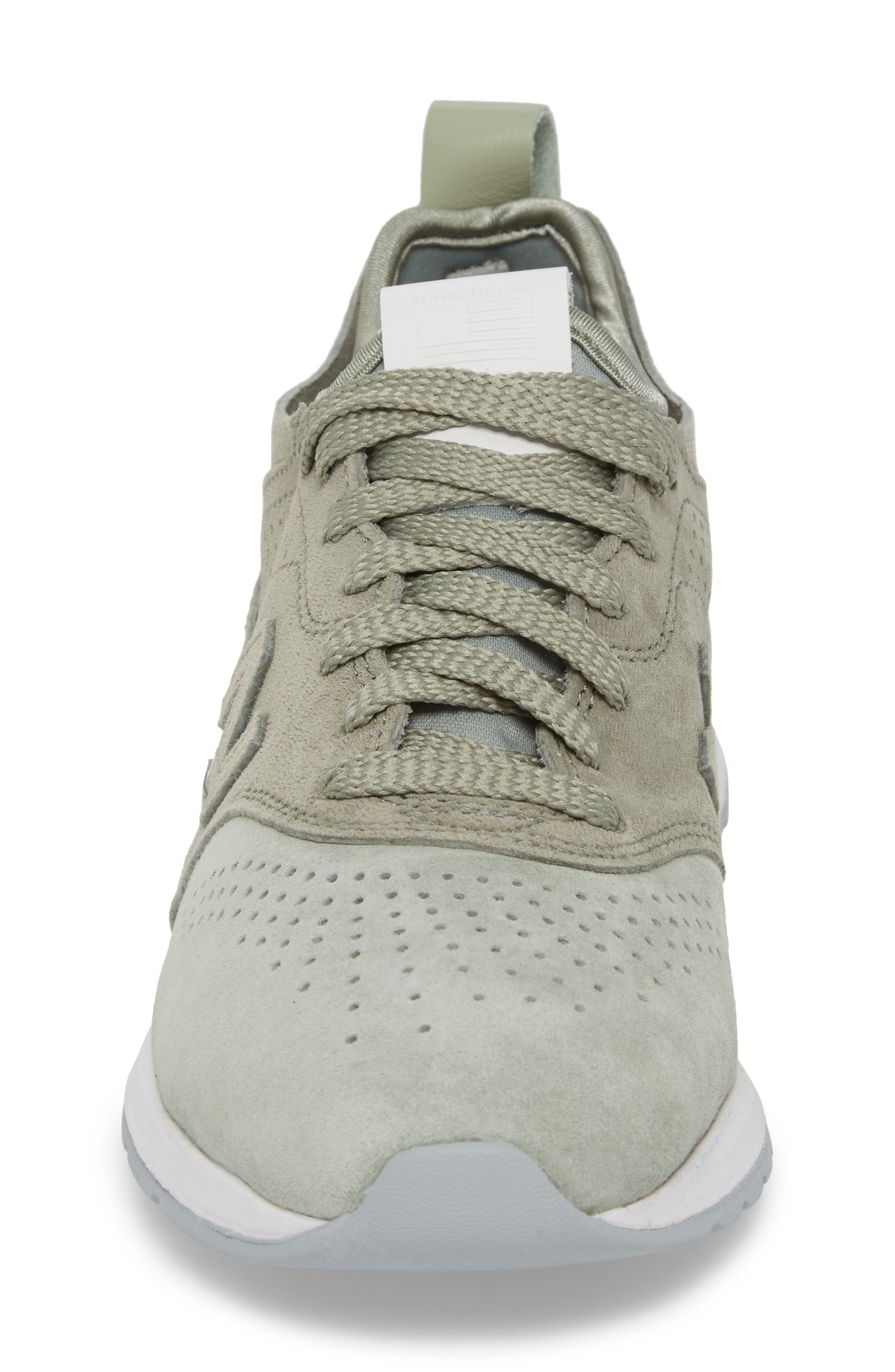 997R Perforated Sneaker,                             Alternate thumbnail 4, color,                             Silver Mint