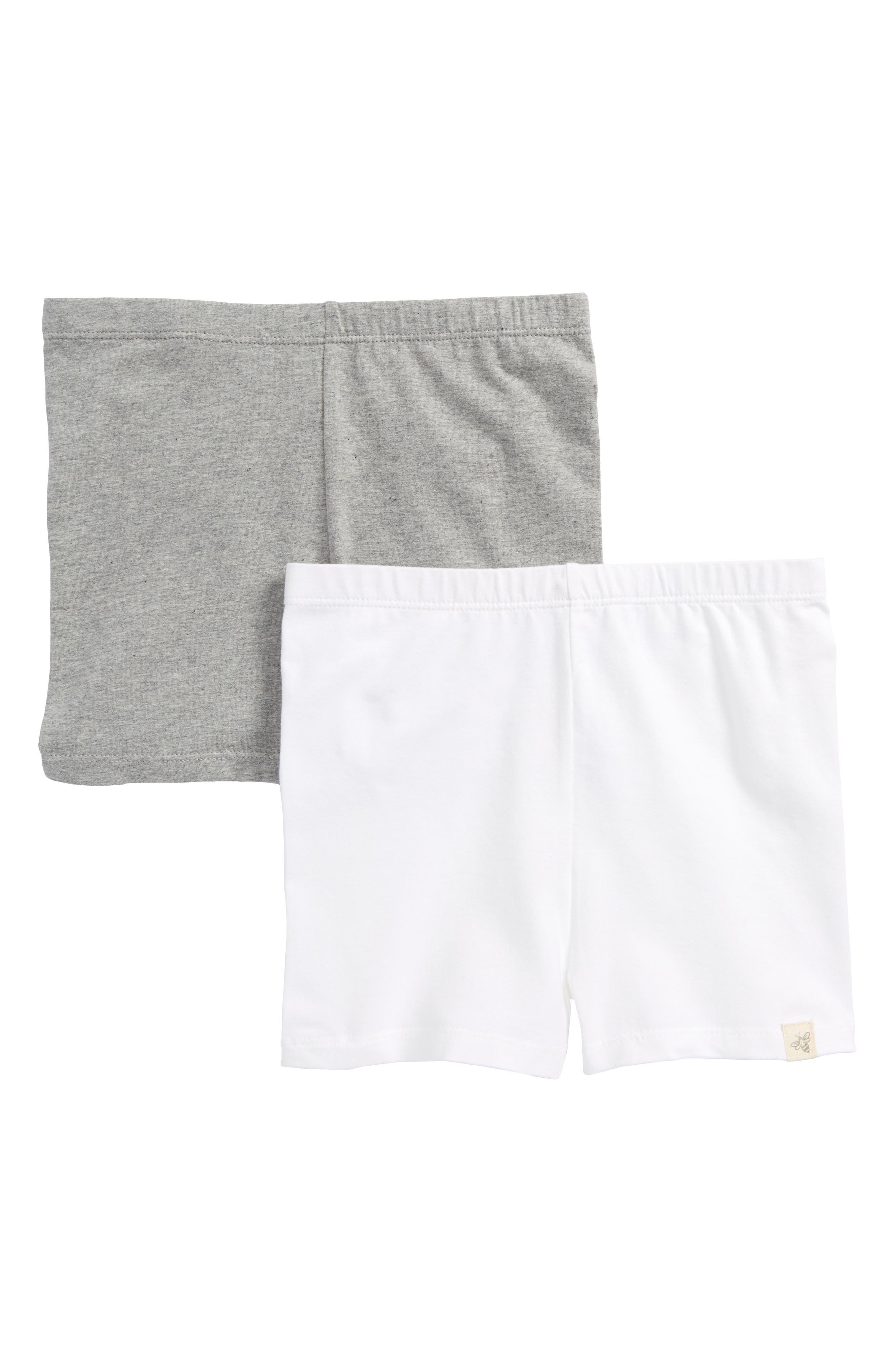2-Pack Organic Cotton Blend Bike Shorts,                             Main thumbnail 1, color,                             Multi