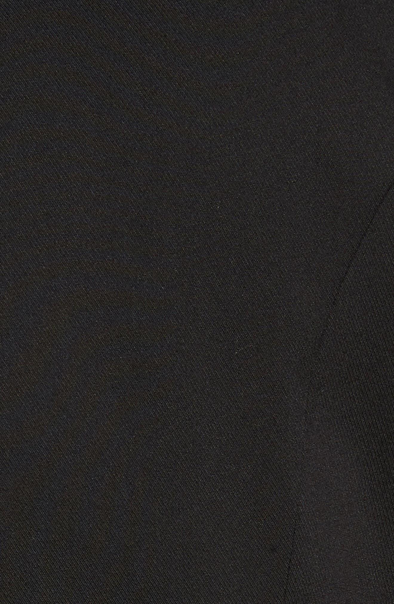 Puff Shoulder Jacket,                             Alternate thumbnail 5, color,                             Black