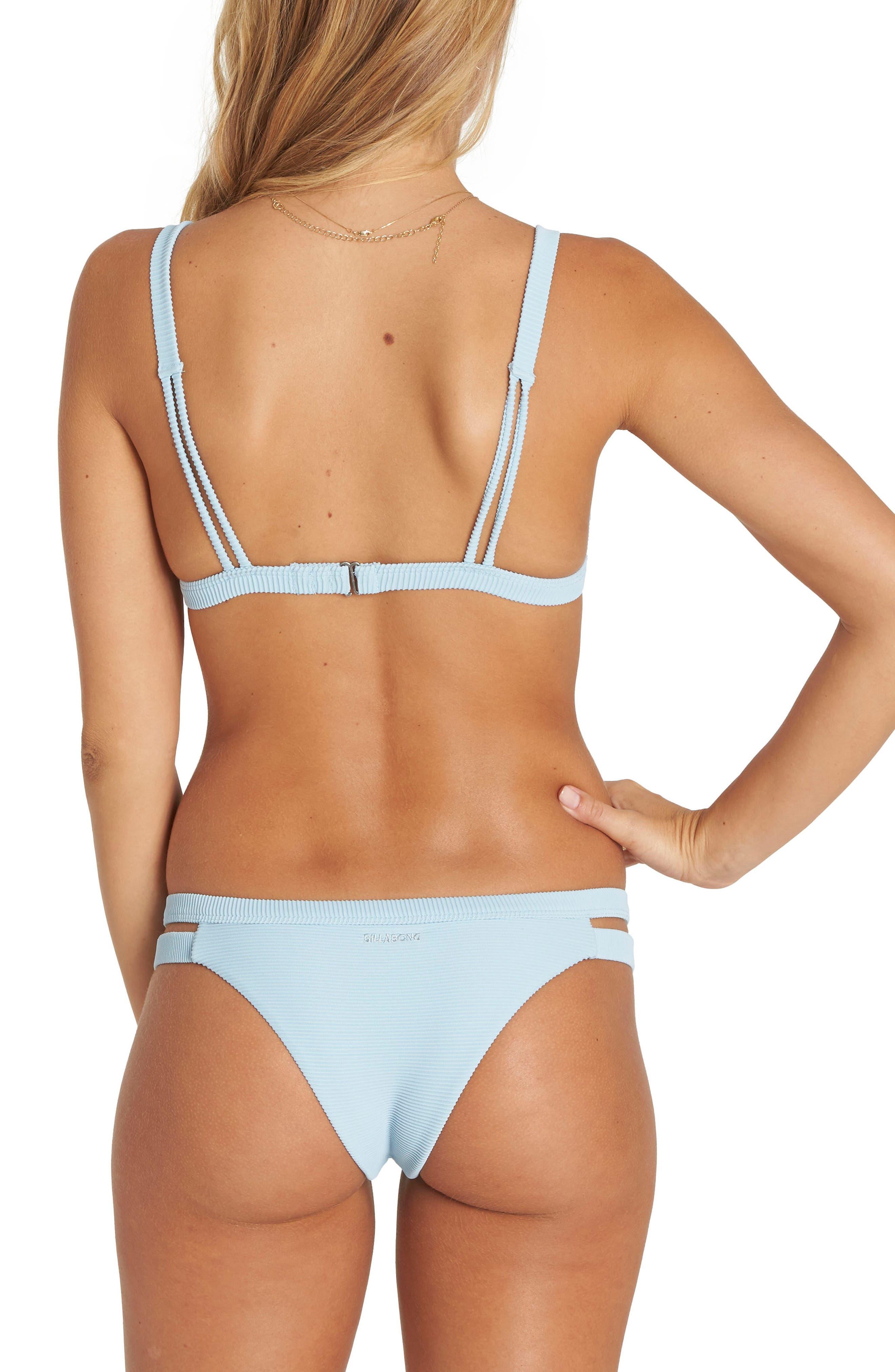 Tanlines Triangle Bikini Top,                             Alternate thumbnail 2, color,                             Cool Water