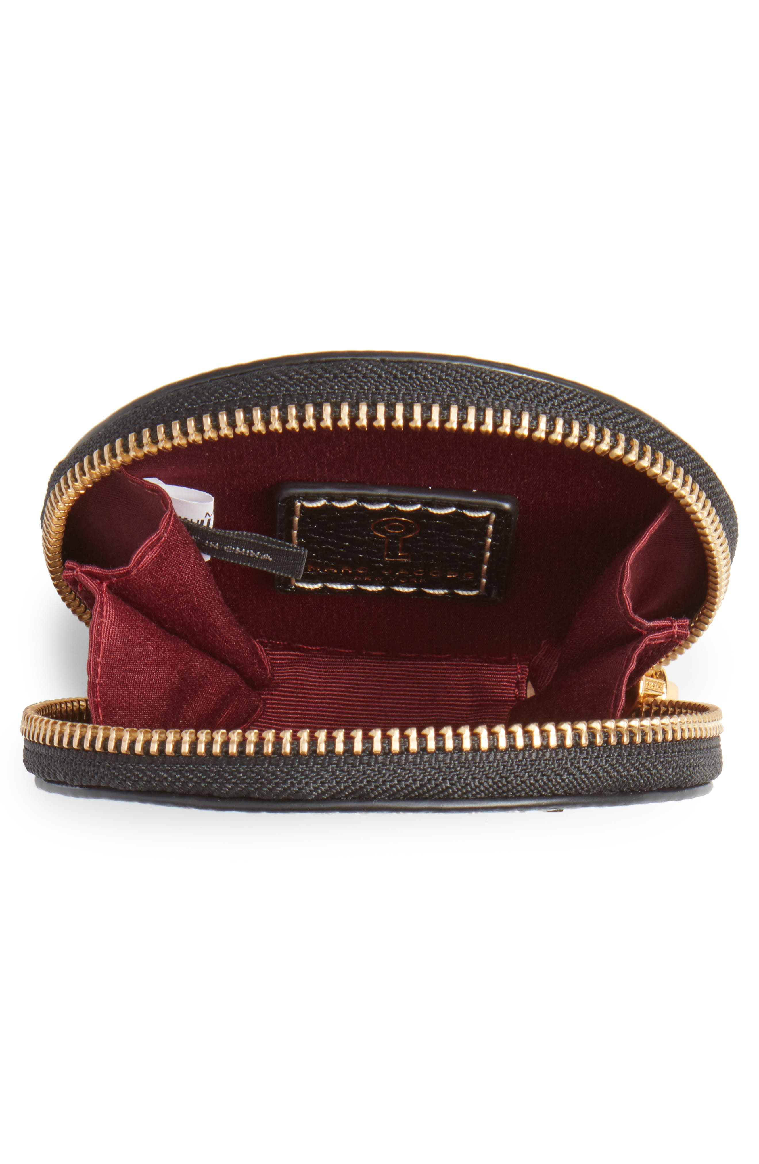 The Grind Leather Coin Pouch,                             Alternate thumbnail 2, color,                             Black