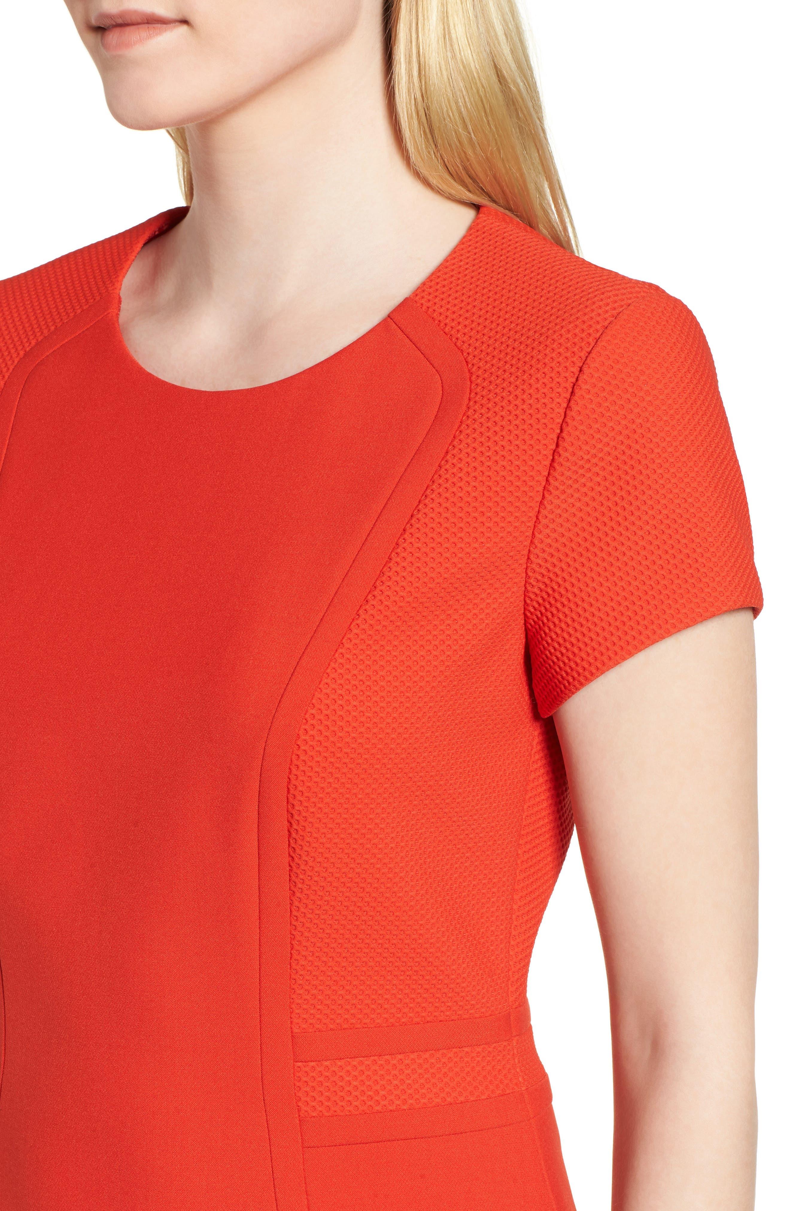 Idama Ponte Top,                             Alternate thumbnail 4, color,                             Sunset Orange