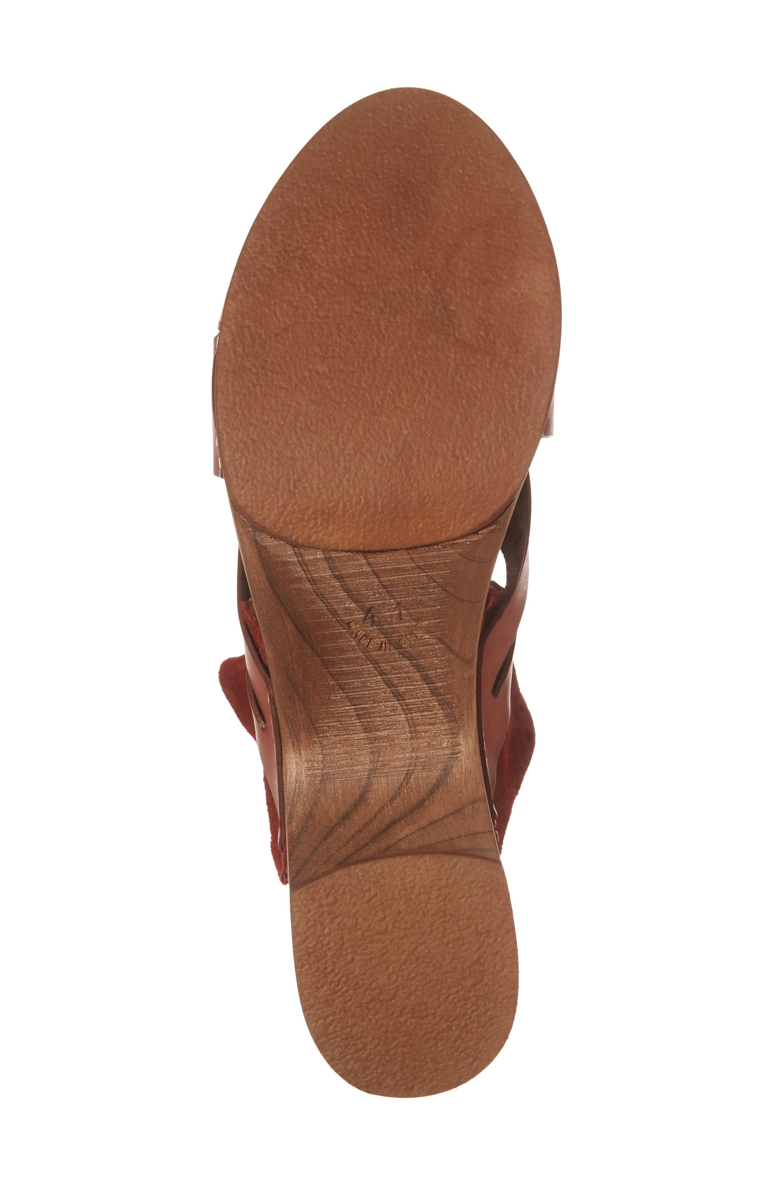 Emmy Ankle Wrap Sandal,                             Alternate thumbnail 6, color,                             Brown