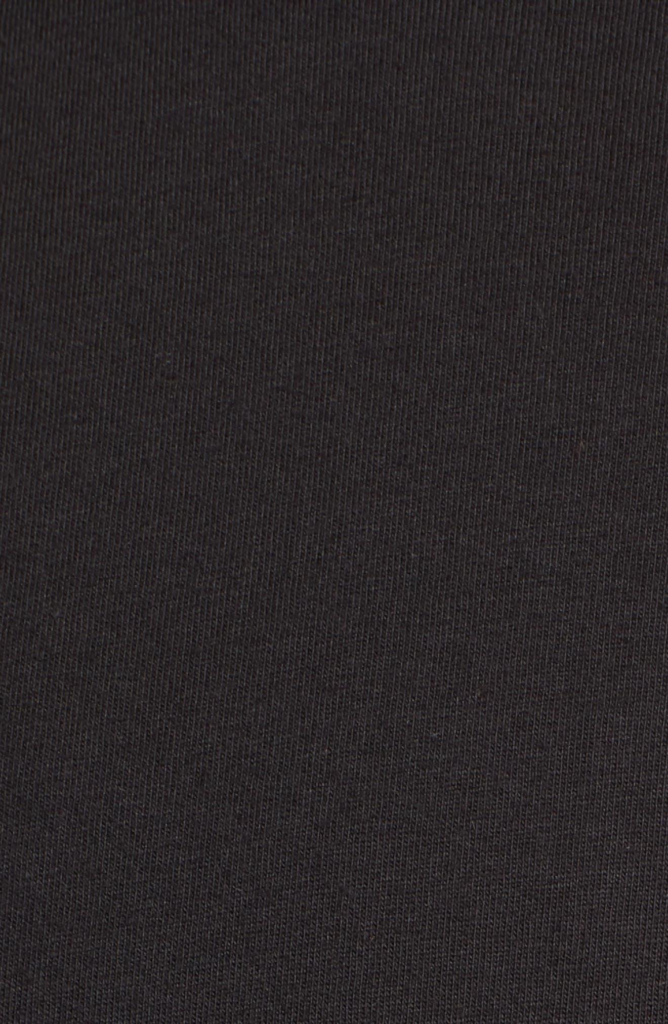 Overgrown Short Sleeve T-Shirt,                             Alternate thumbnail 5, color,                             Black