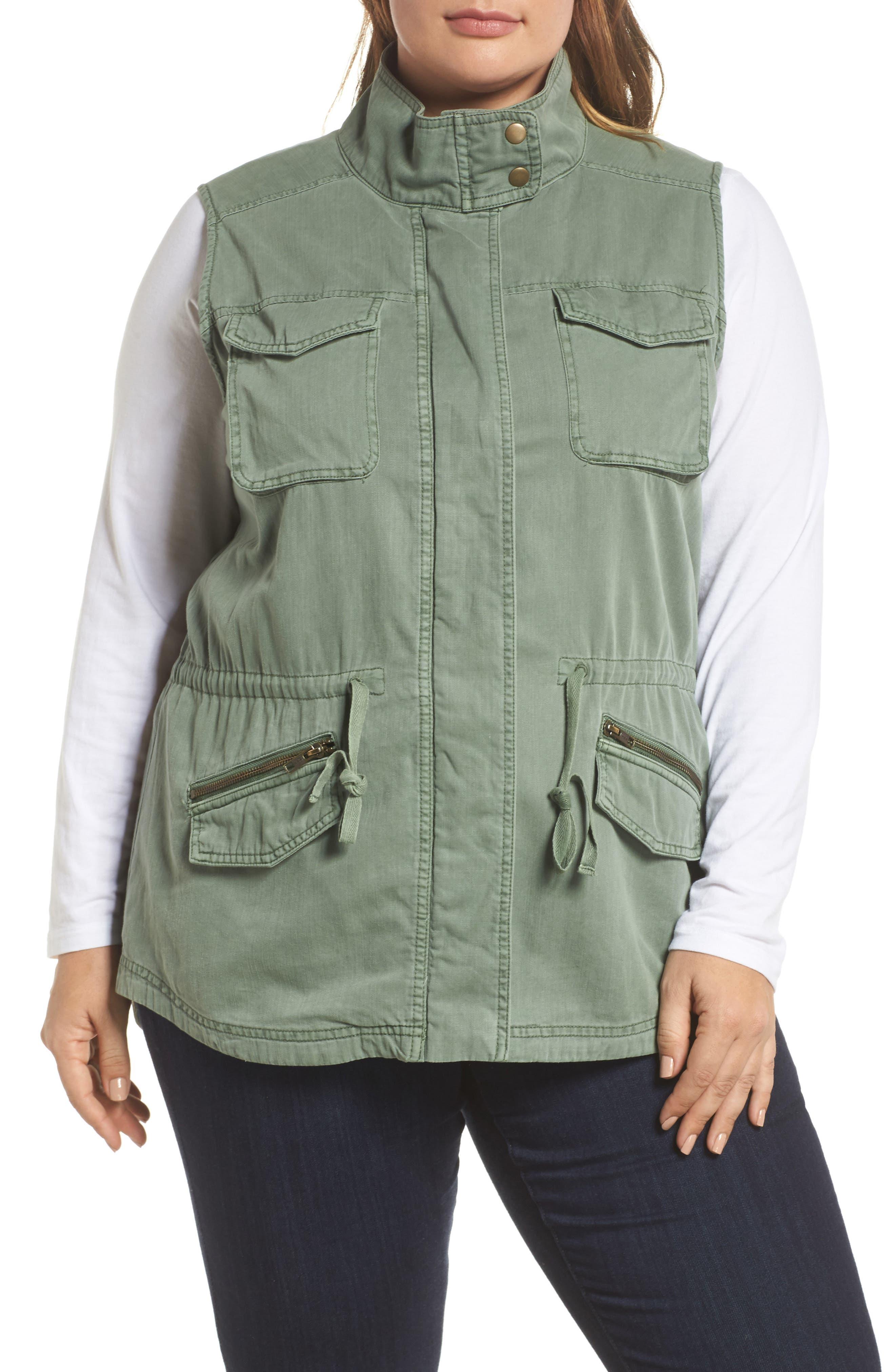 Utility Vest,                             Alternate thumbnail 4, color,                             Green Dune