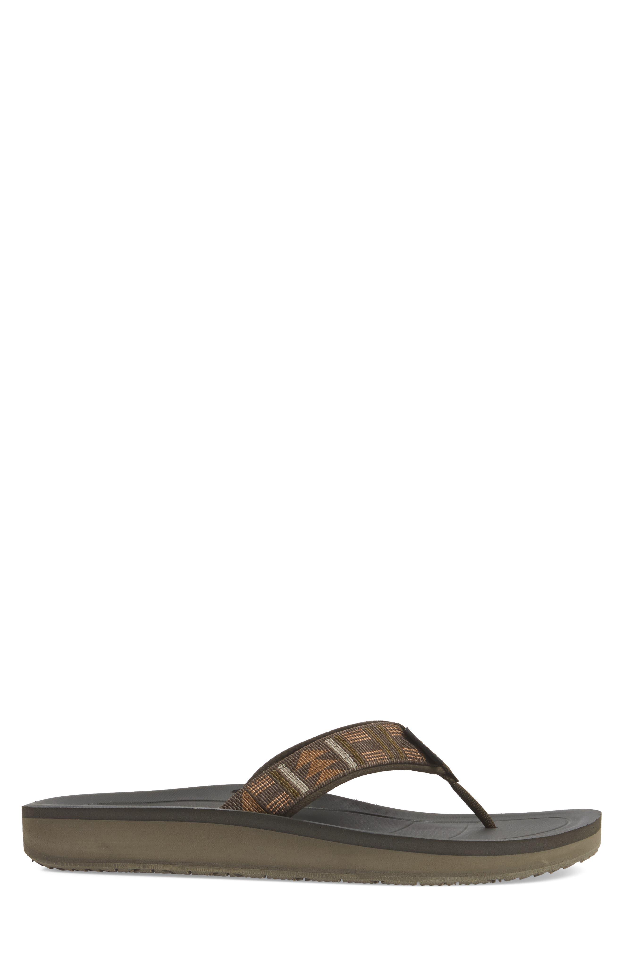 Flip Premier Flip Flop,                             Alternate thumbnail 3, color,                             Brown Nylon