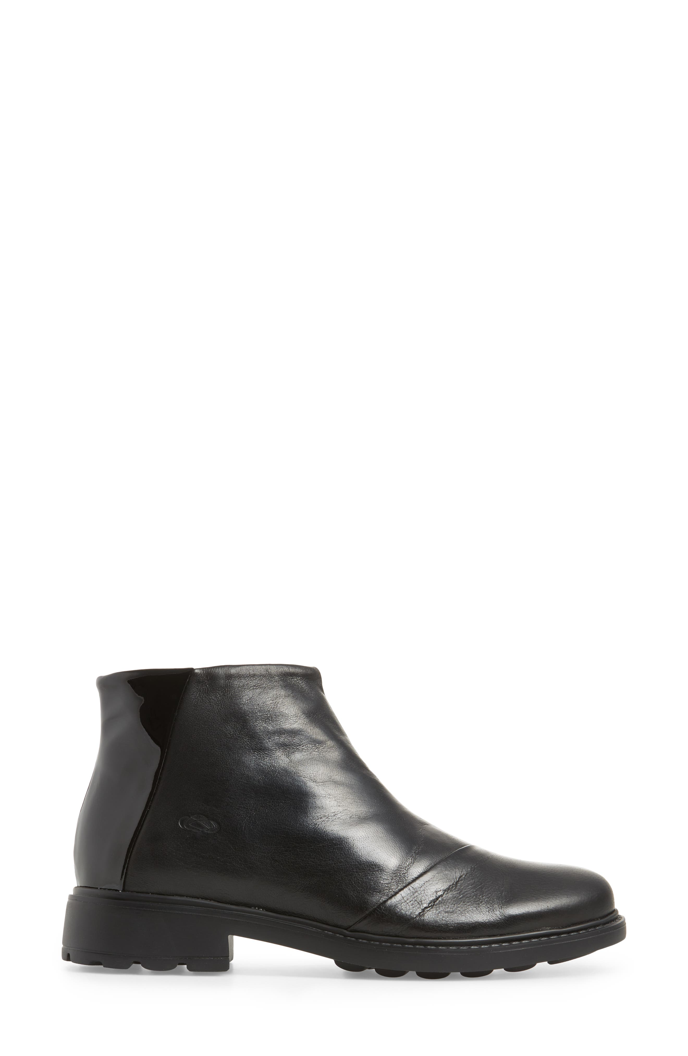 Penny Bootie,                             Alternate thumbnail 3, color,                             Black Leather