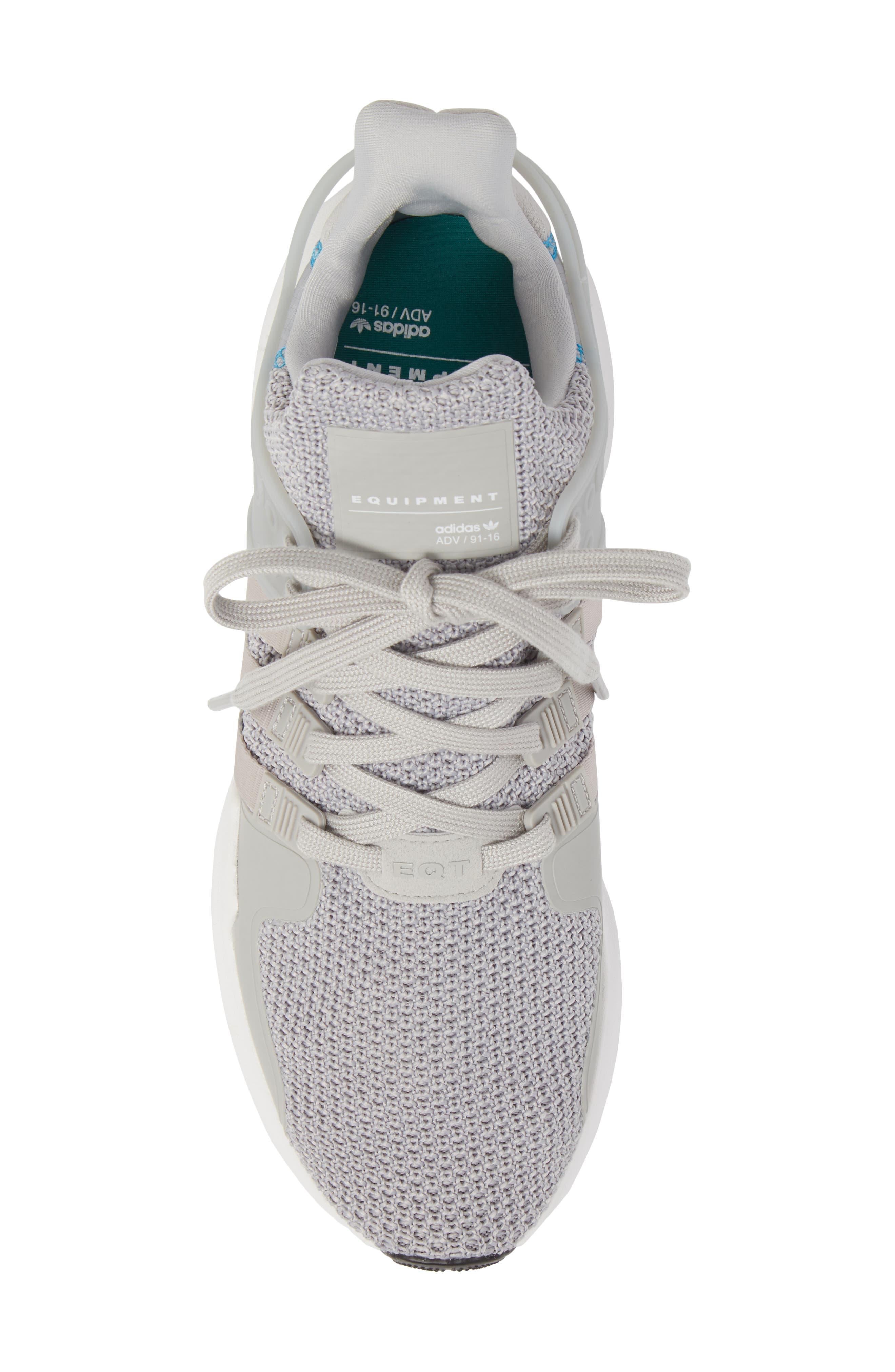EQT Support Adv Sneaker,                             Alternate thumbnail 5, color,                             Grey/ White