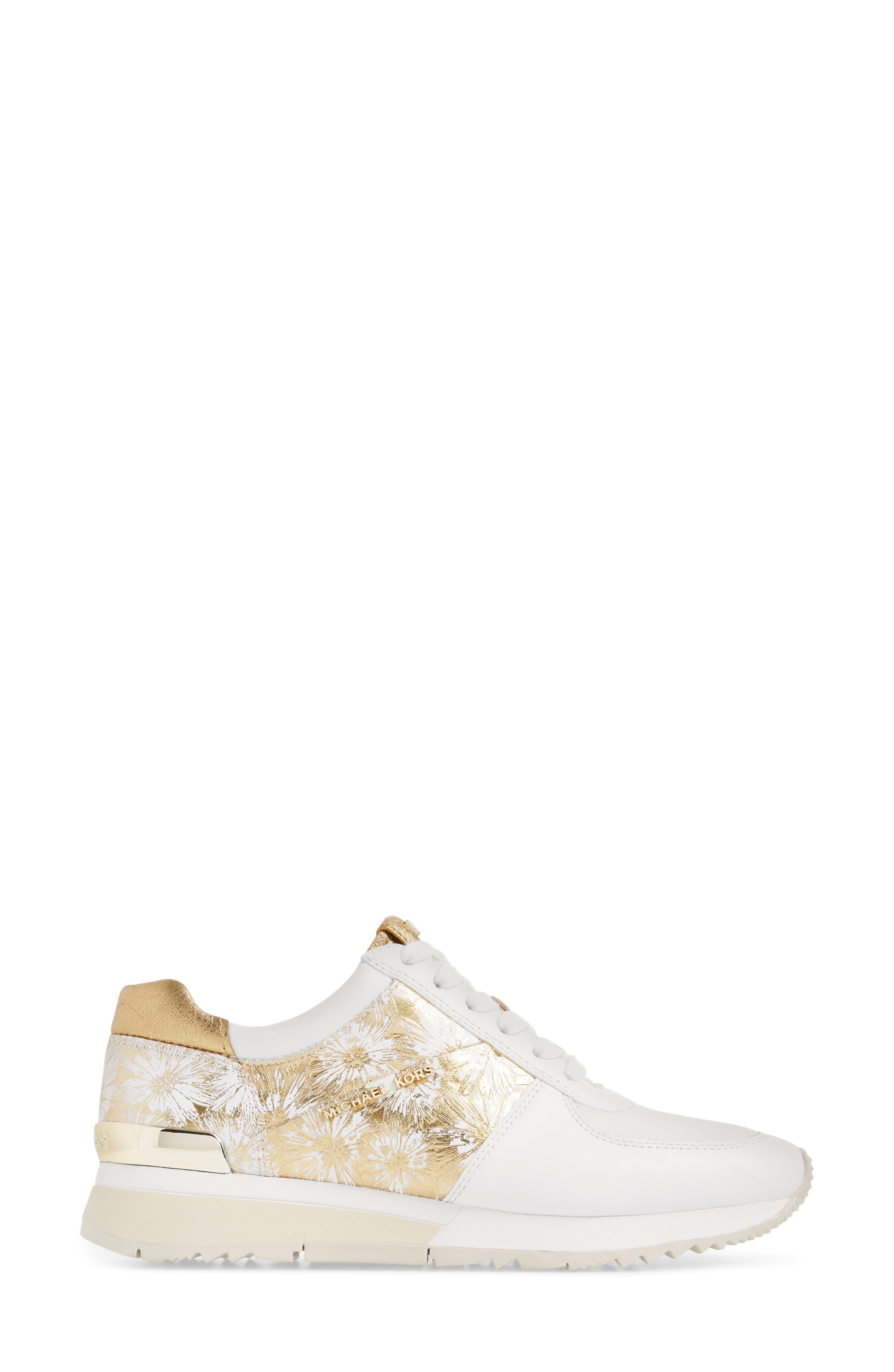 'Allie' Sneaker,                             Alternate thumbnail 3, color,                             Gold
