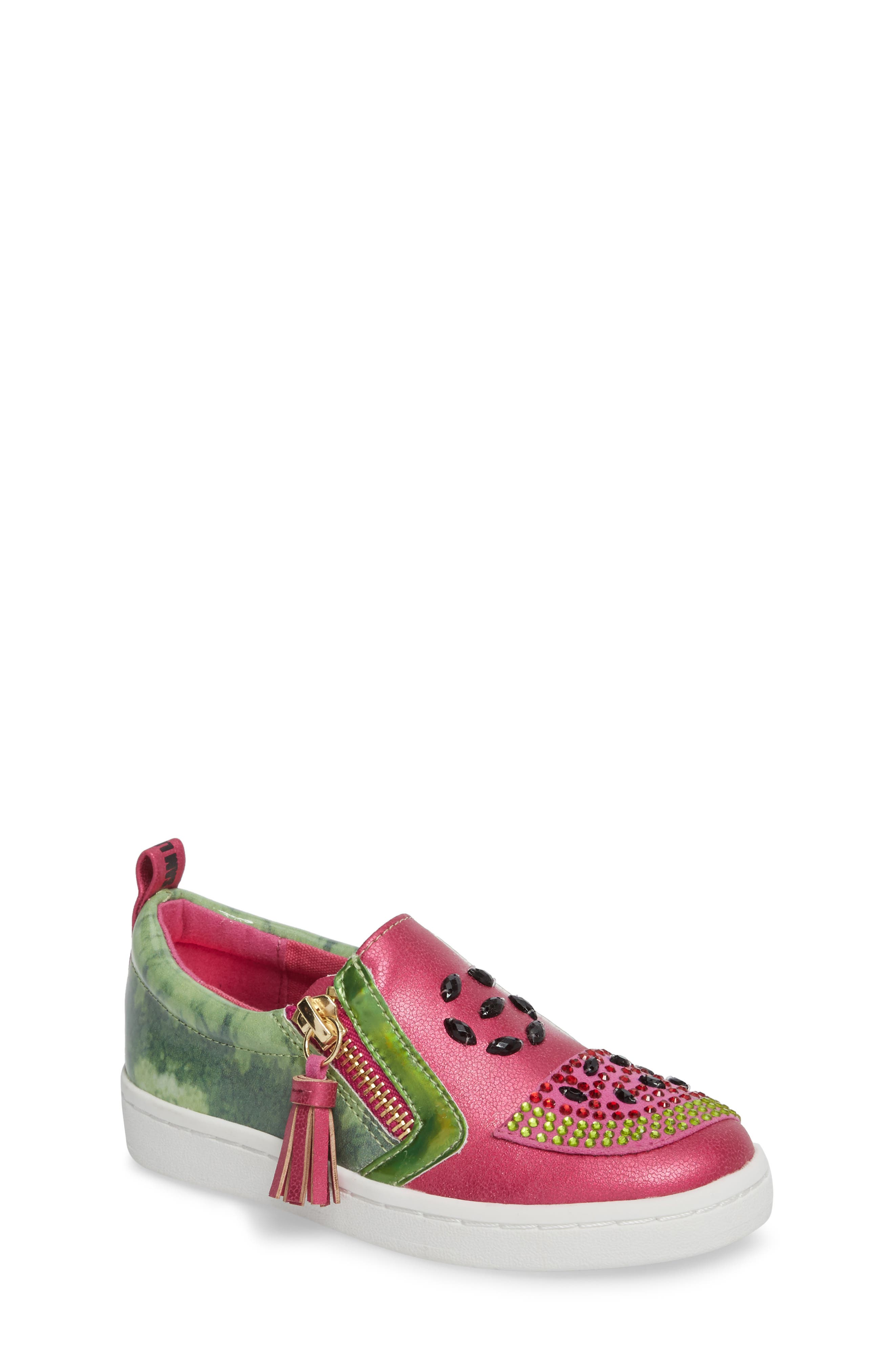 Blane Watermelon Sneaker,                             Main thumbnail 1, color,                             Fuchsia Patent Leather