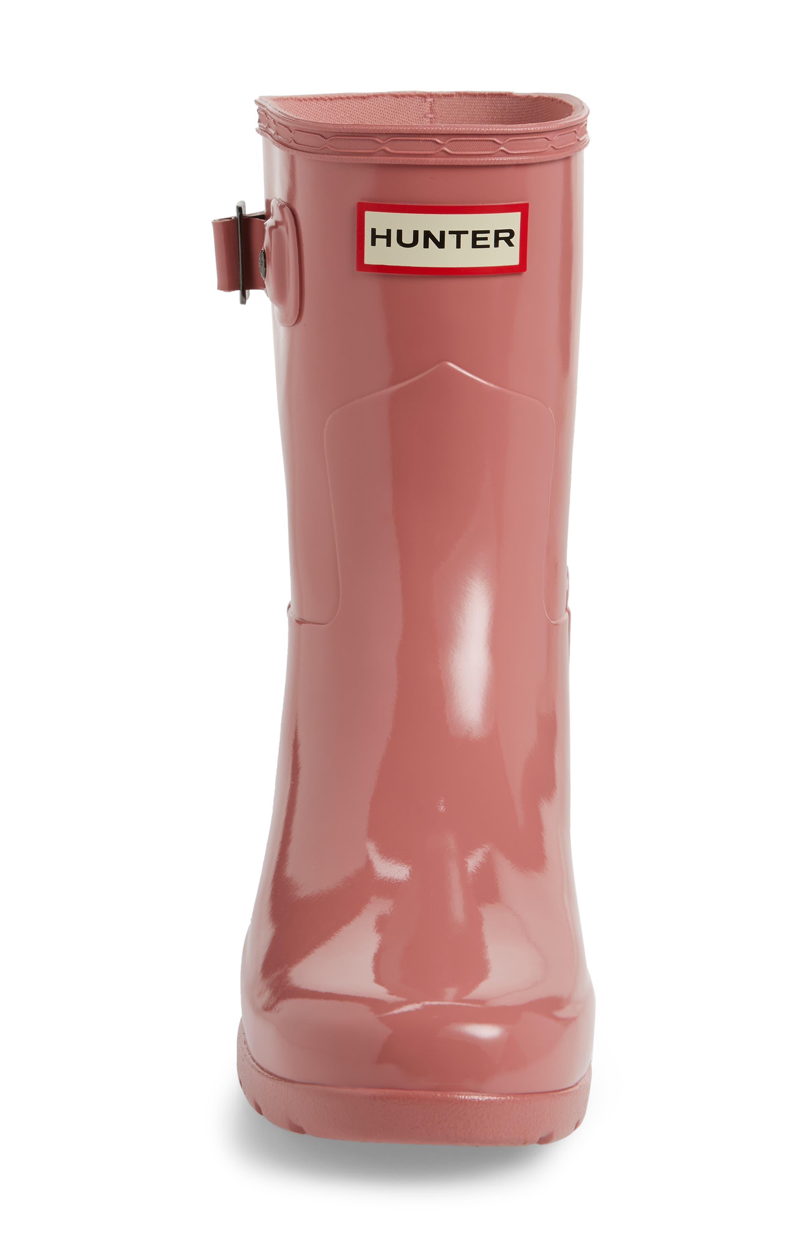 'Refined Short' Gloss Rain Boot,                             Alternate thumbnail 5, color,                             Pale Rose