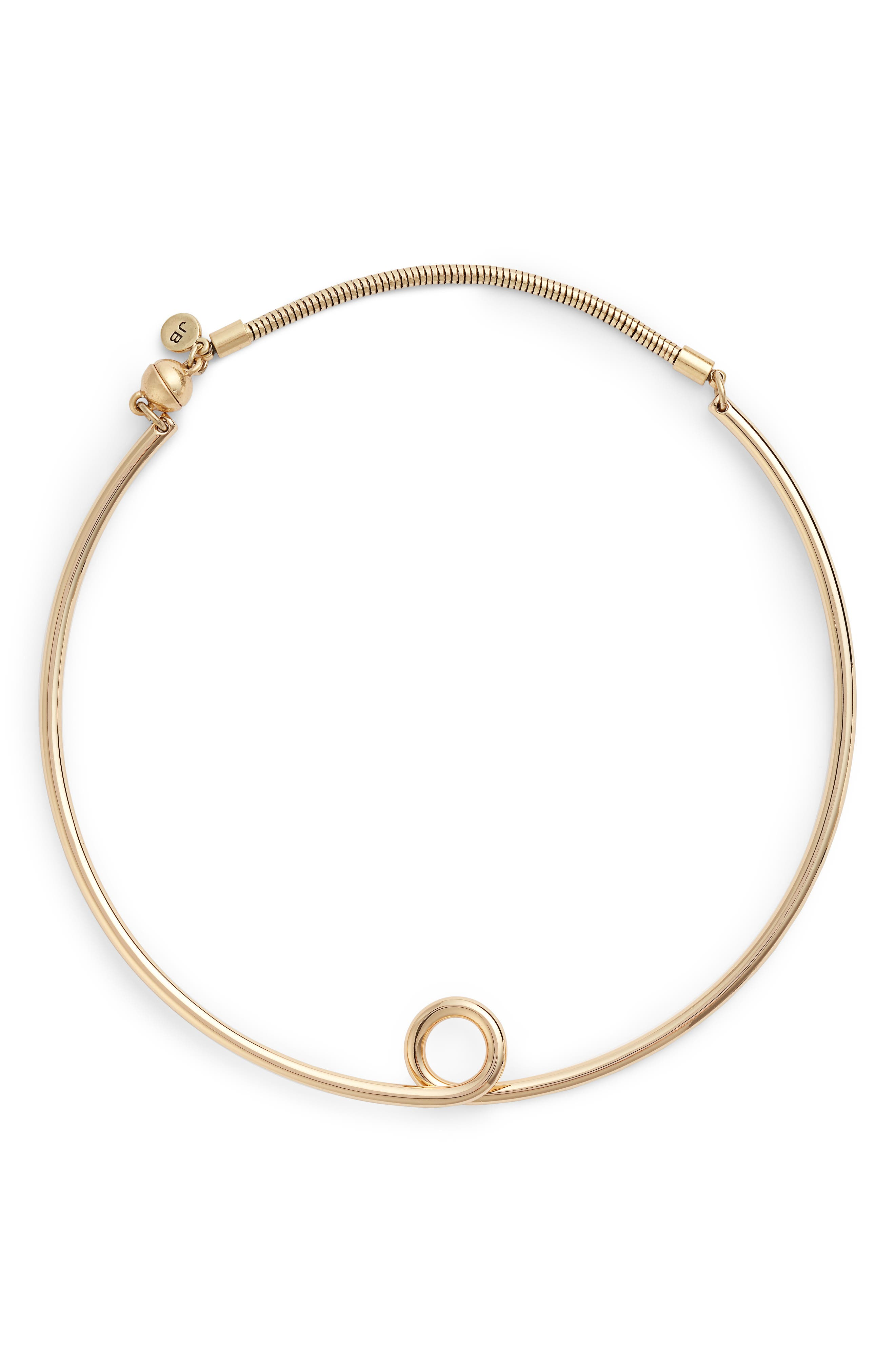 The Loop Collar Necklace,                         Main,                         color, High Polish Gold